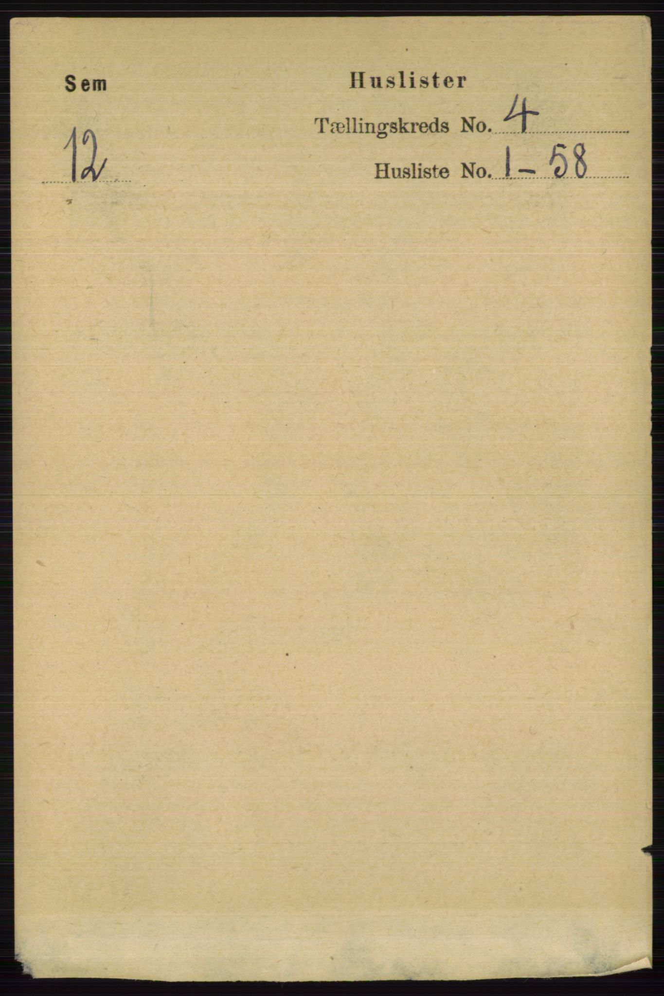 RA, Folketelling 1891 for 0721 Sem herred, 1891, s. 1479