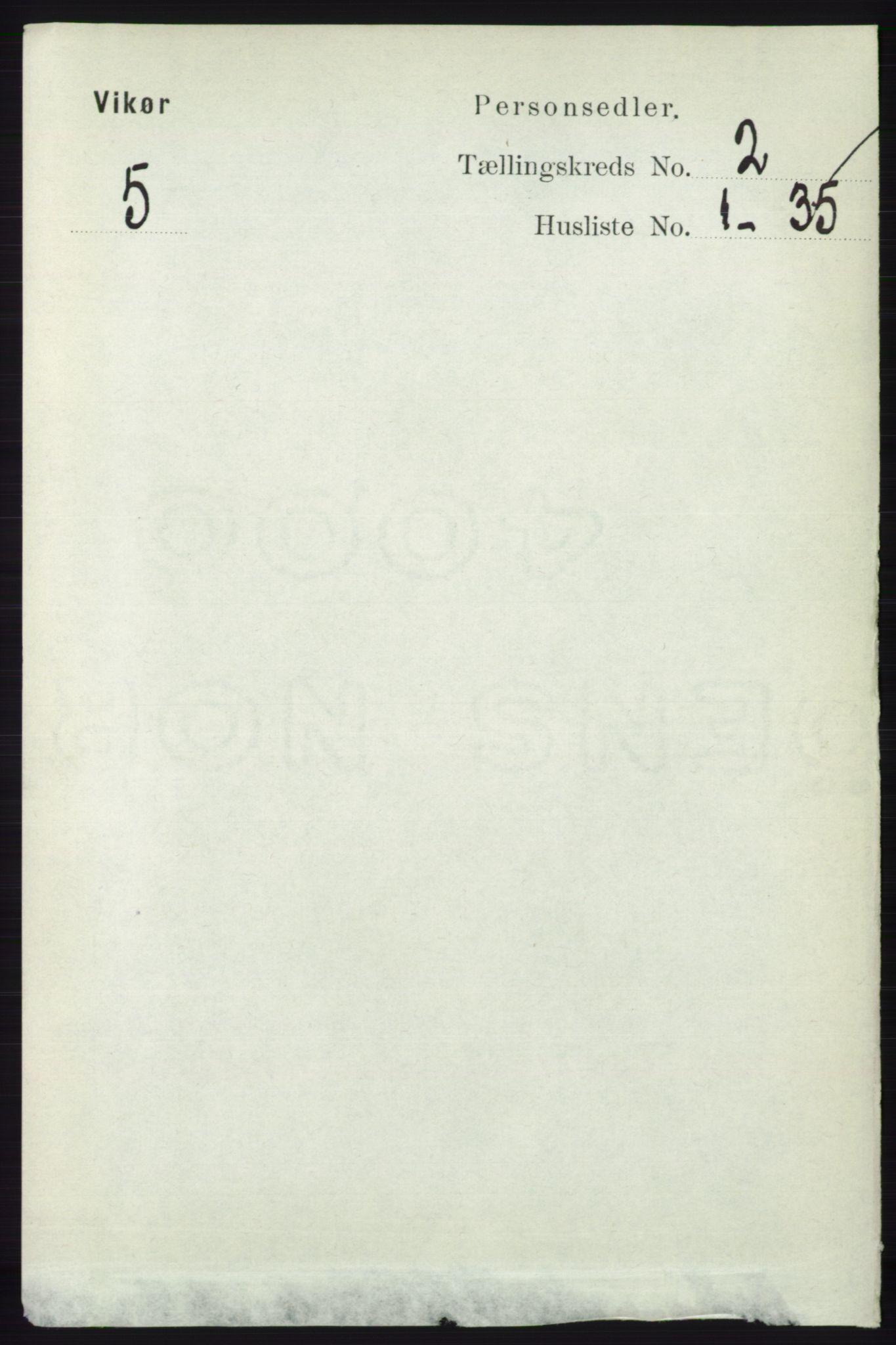 RA, Folketelling 1891 for 1238 Vikør herred, 1891, s. 478