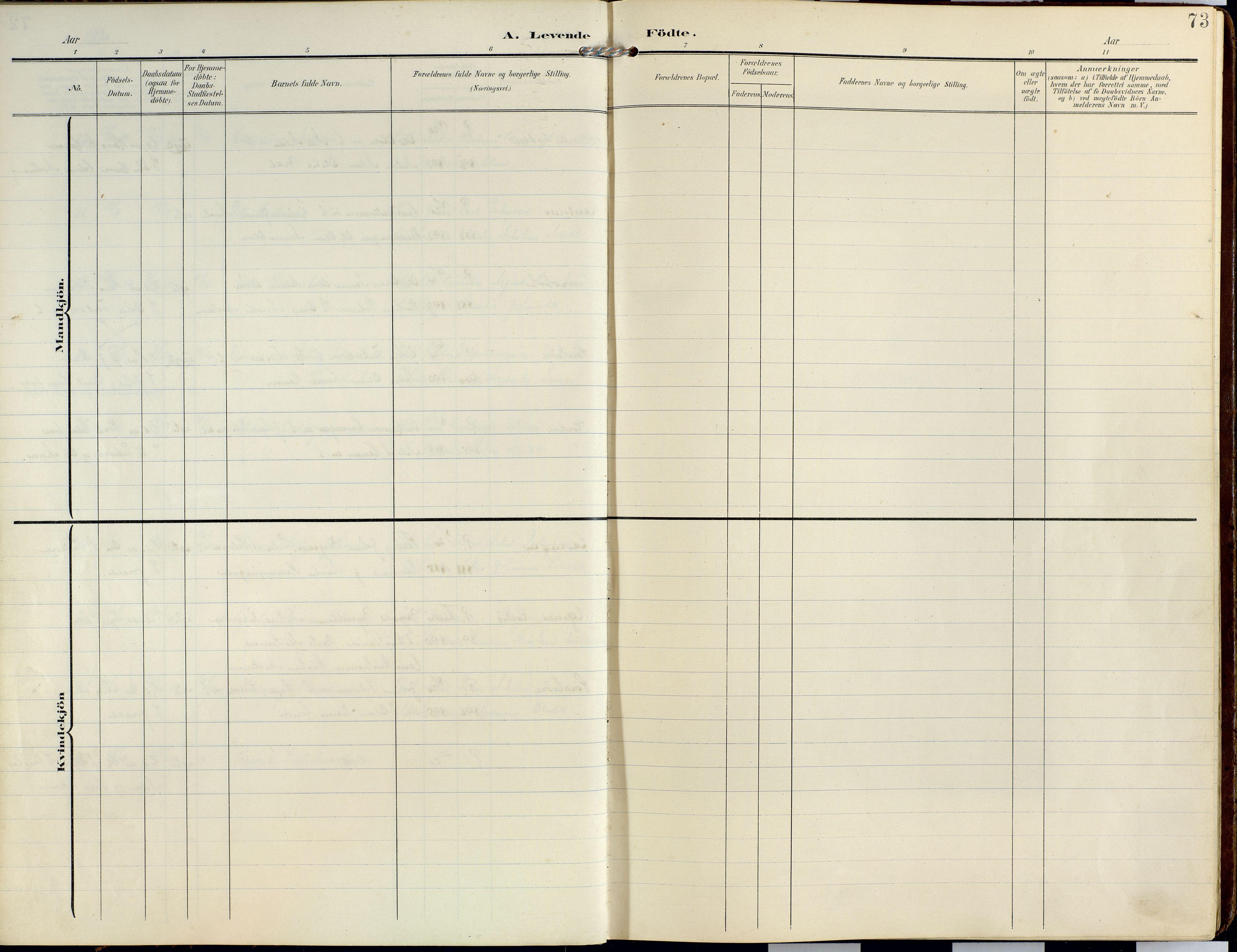 SATØ, Lyngen sokneprestembete, Ministerialbok nr. 14, 1905-1920, s. 73