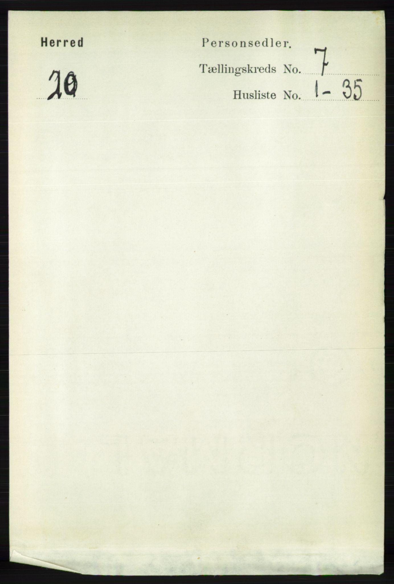RA, Folketelling 1891 for 1039 Herad herred, 1891, s. 2793