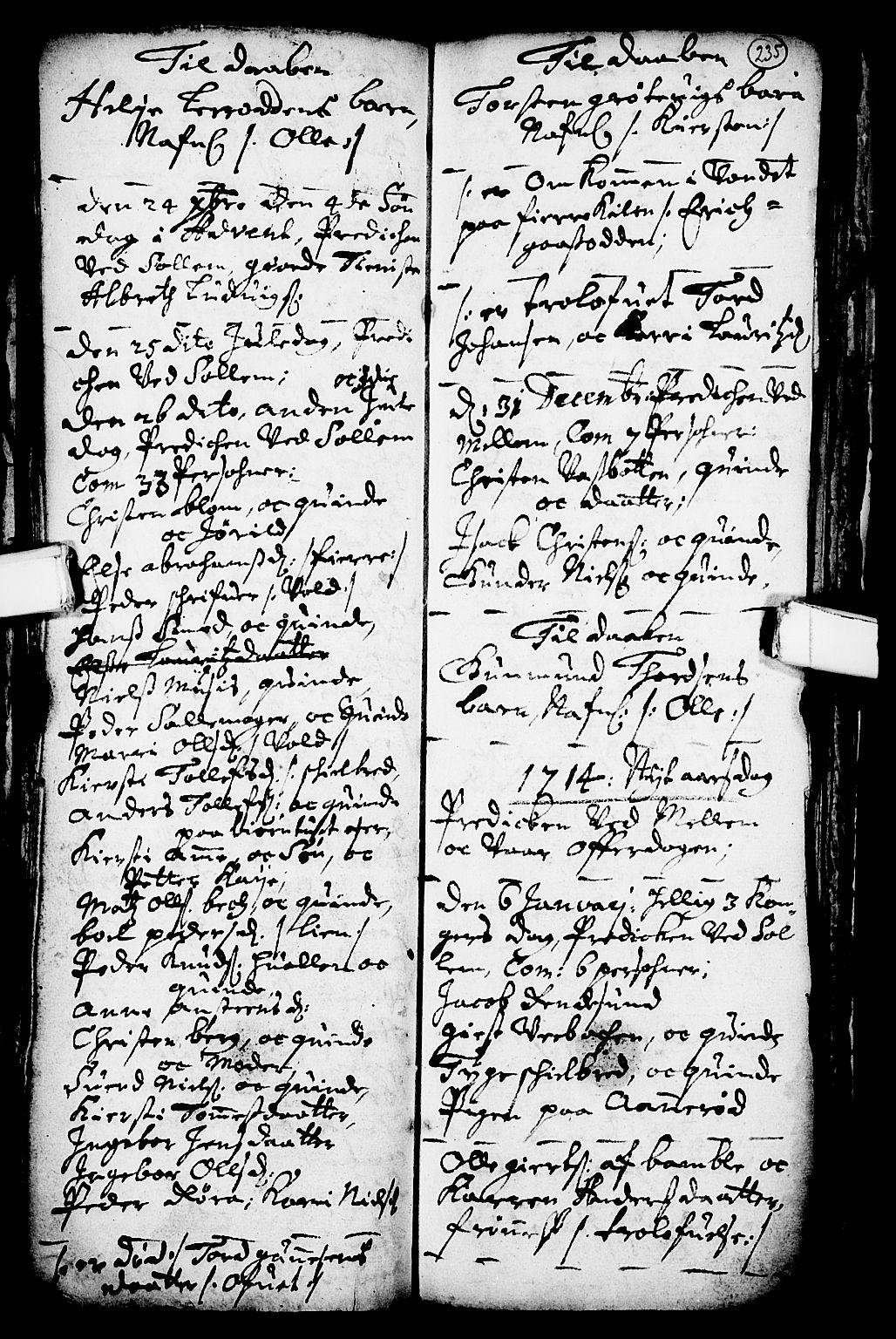 SAKO, Solum kirkebøker, F/Fa/L0001: Ministerialbok nr. I 1, 1701-1716, s. 235