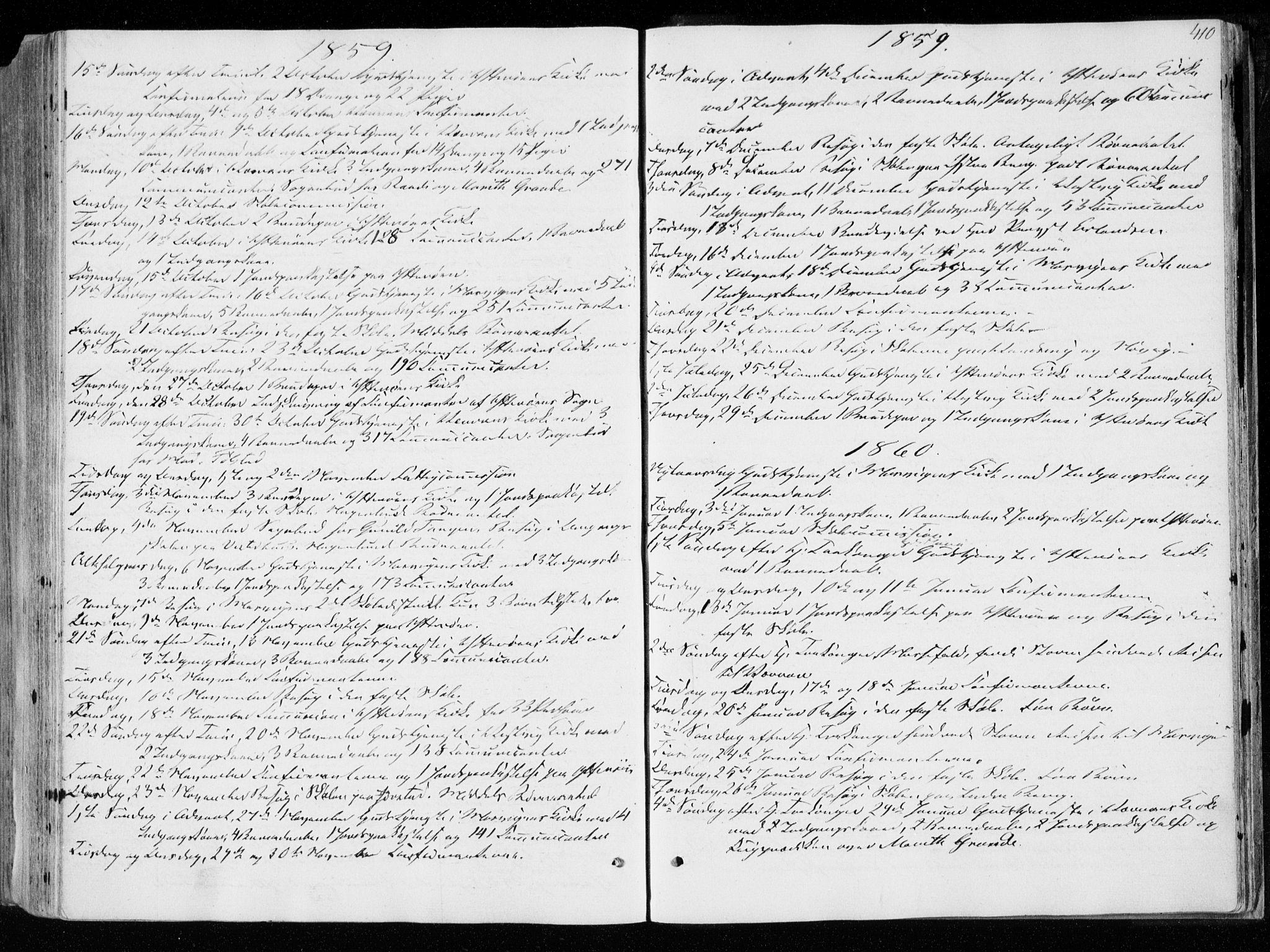 SAT, Ministerialprotokoller, klokkerbøker og fødselsregistre - Nord-Trøndelag, 722/L0218: Ministerialbok nr. 722A05, 1843-1868, s. 410