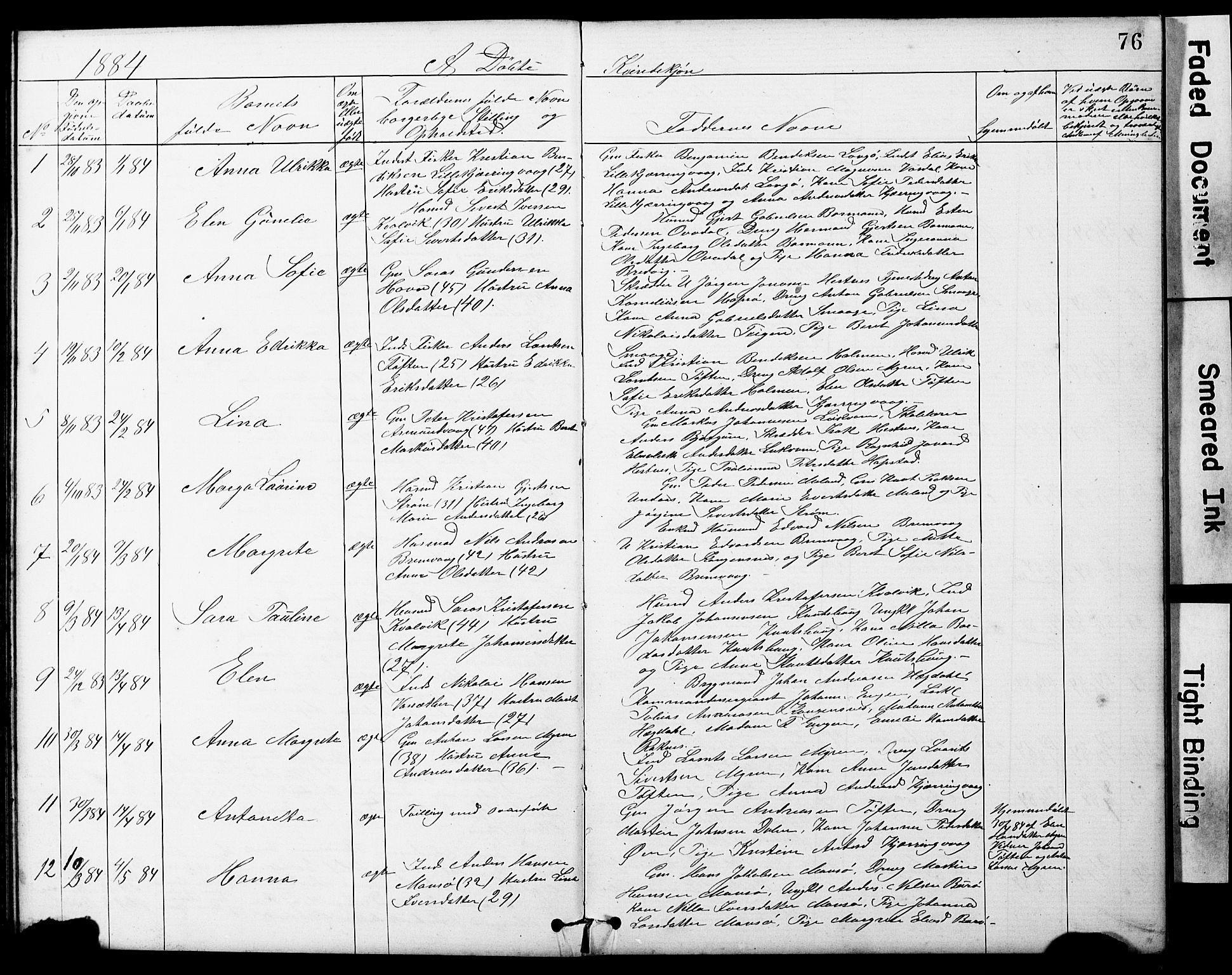 SAT, Ministerialprotokoller, klokkerbøker og fødselsregistre - Sør-Trøndelag, 634/L0541: Klokkerbok nr. 634C03, 1874-1891, s. 76