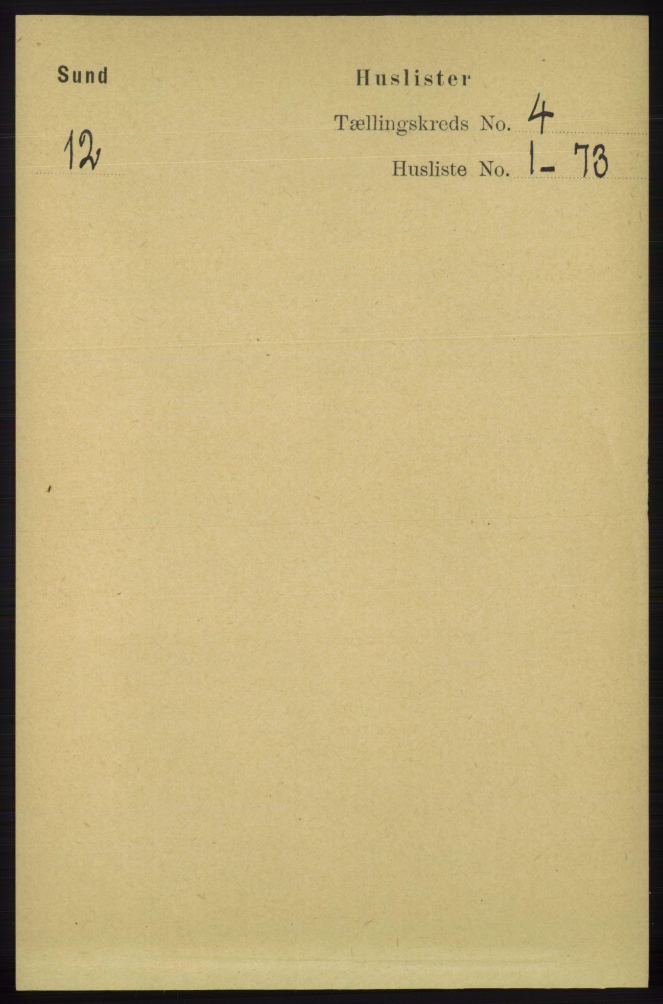 RA, Folketelling 1891 for 1245 Sund herred, 1891, s. 1776
