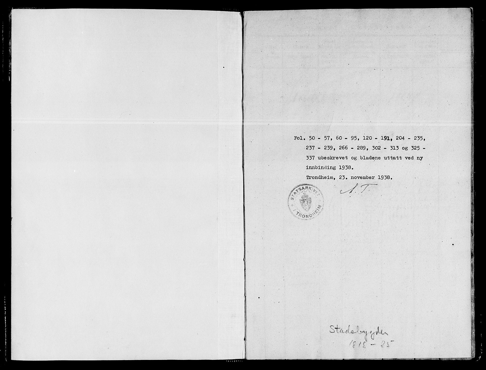 SAT, Ministerialprotokoller, klokkerbøker og fødselsregistre - Sør-Trøndelag, 646/L0608: Ministerialbok nr. 646A06, 1816-1825