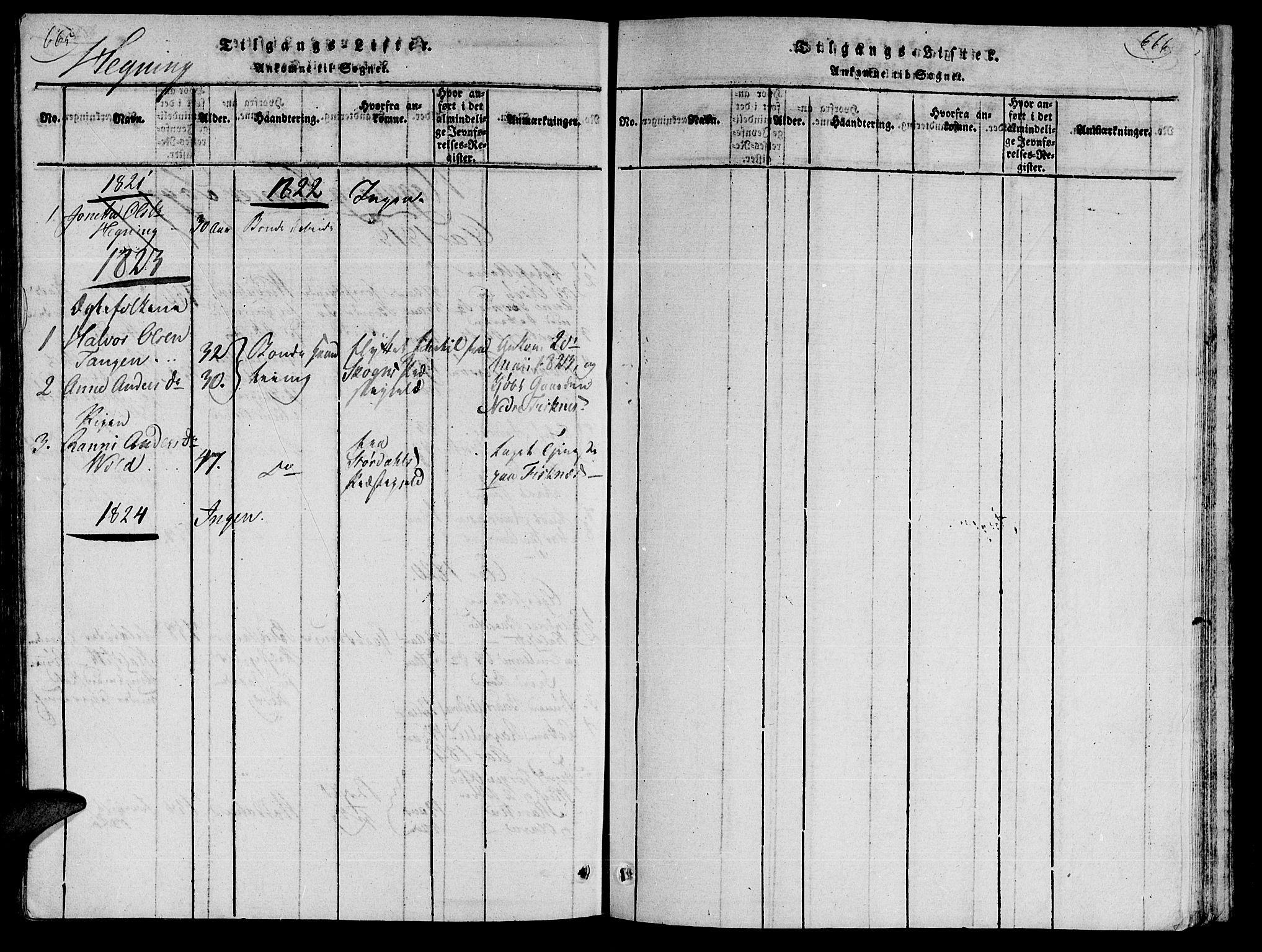 SAT, Ministerialprotokoller, klokkerbøker og fødselsregistre - Nord-Trøndelag, 735/L0333: Ministerialbok nr. 735A04 /3, 1816-1825, s. 665-666