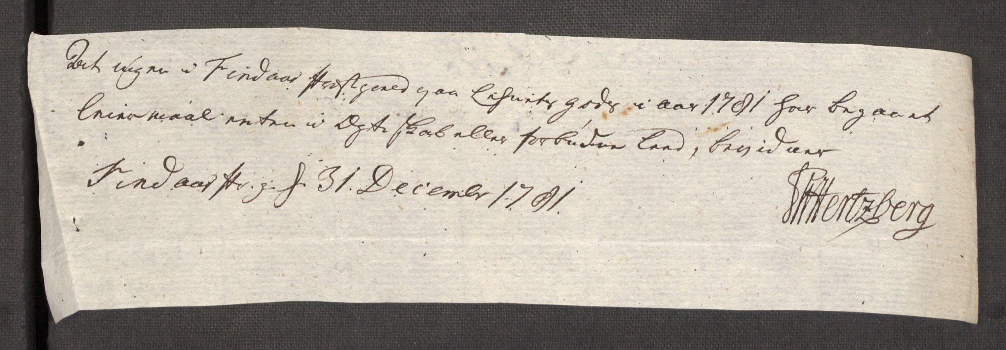 RA, Rentekammeret inntil 1814, Reviderte regnskaper, Fogderegnskap, R48/L3097: Fogderegnskap Sunnhordland og Hardanger, 1781, s. 122