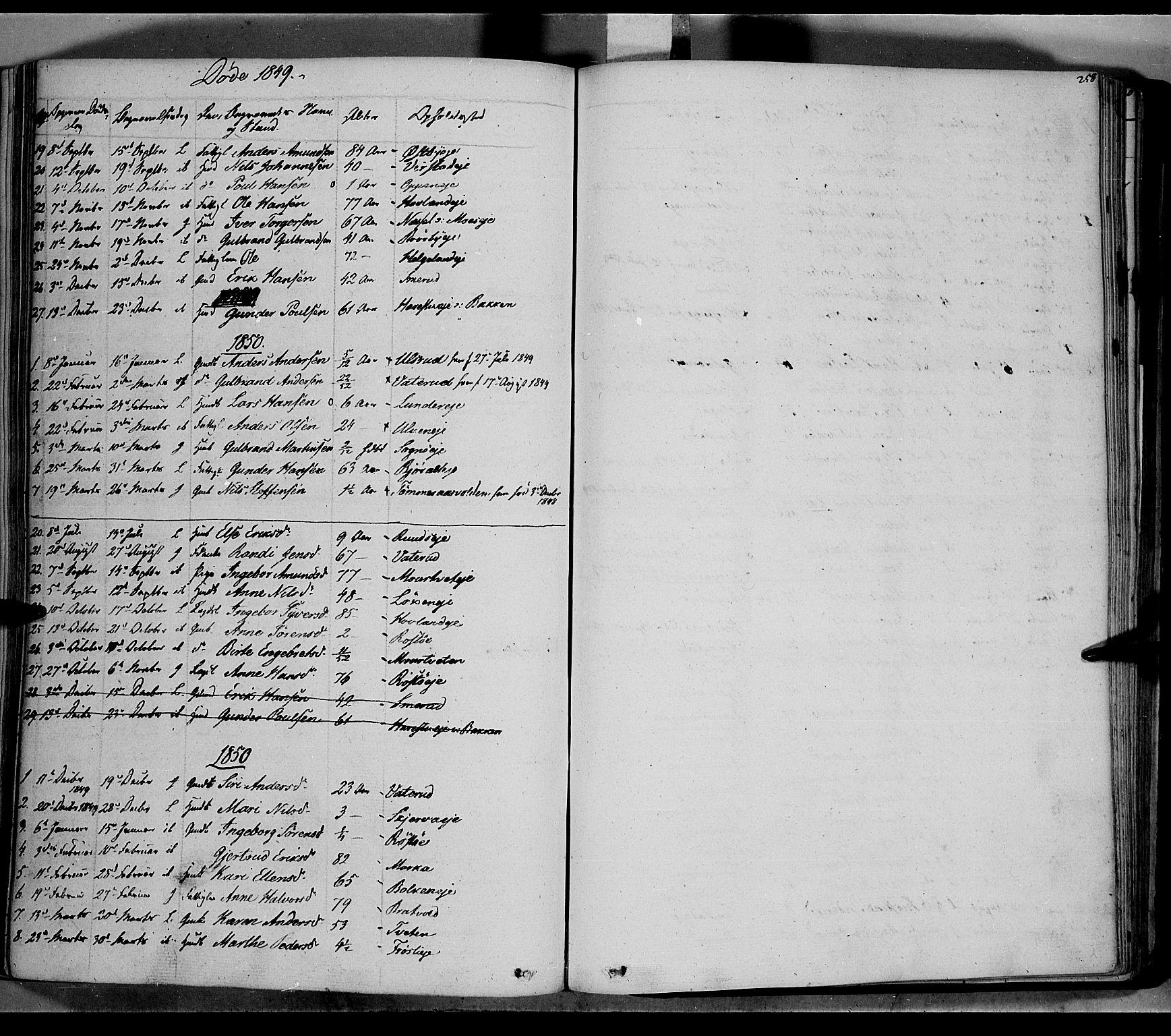 SAH, Jevnaker prestekontor, Ministerialbok nr. 6, 1837-1857, s. 258
