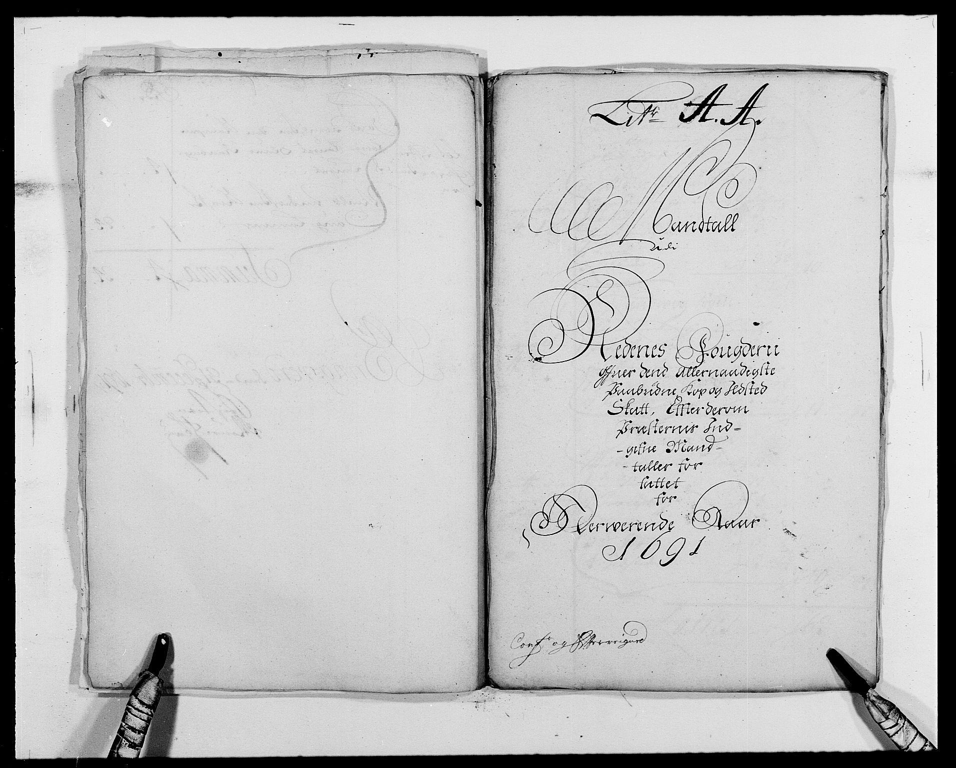 RA, Rentekammeret inntil 1814, Reviderte regnskaper, Fogderegnskap, R39/L2311: Fogderegnskap Nedenes, 1690-1692, s. 124