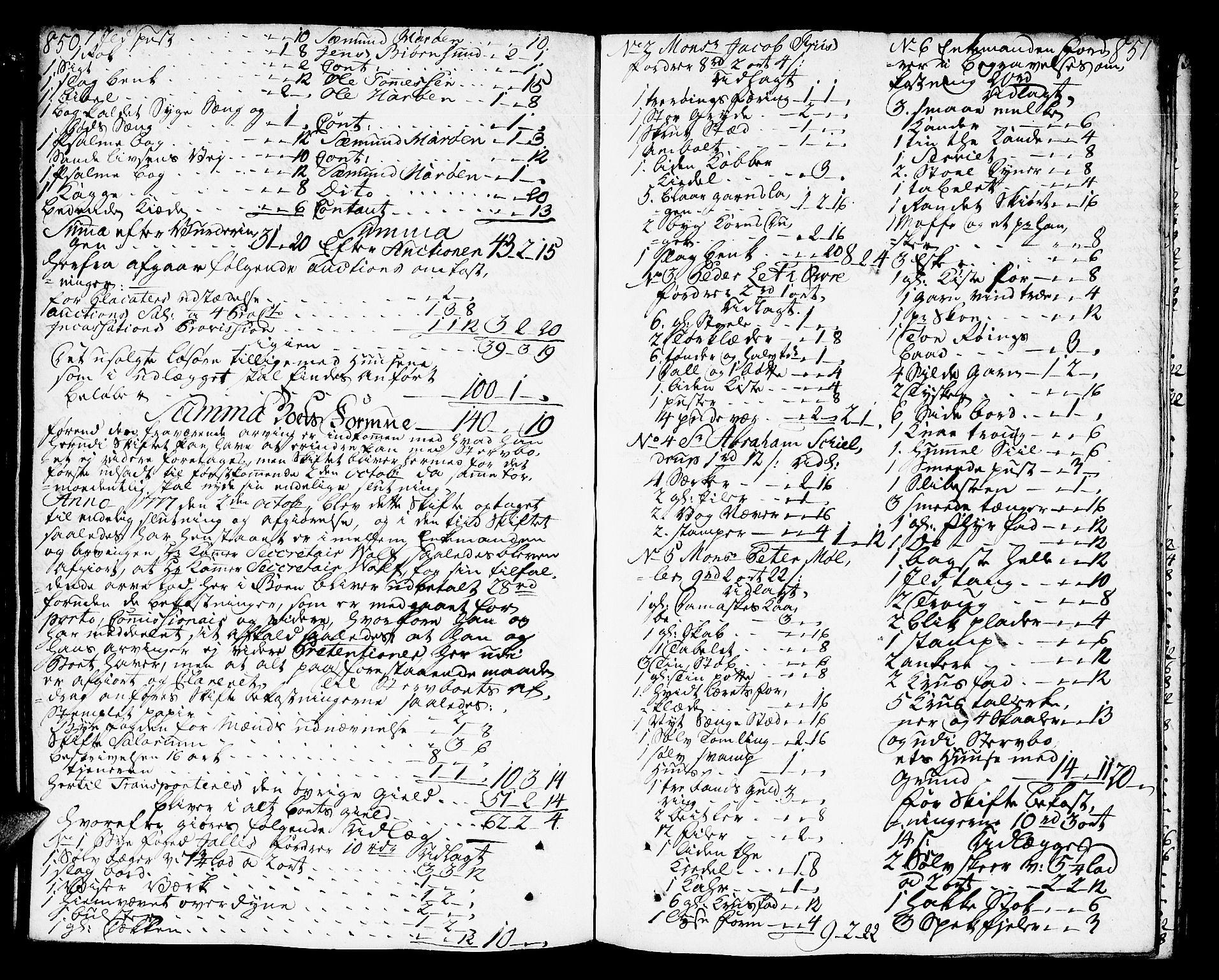 SAT, Molde byfogd, 3Aa/L0002: Skifteprotokoll, 1768-1787, s. 850-851
