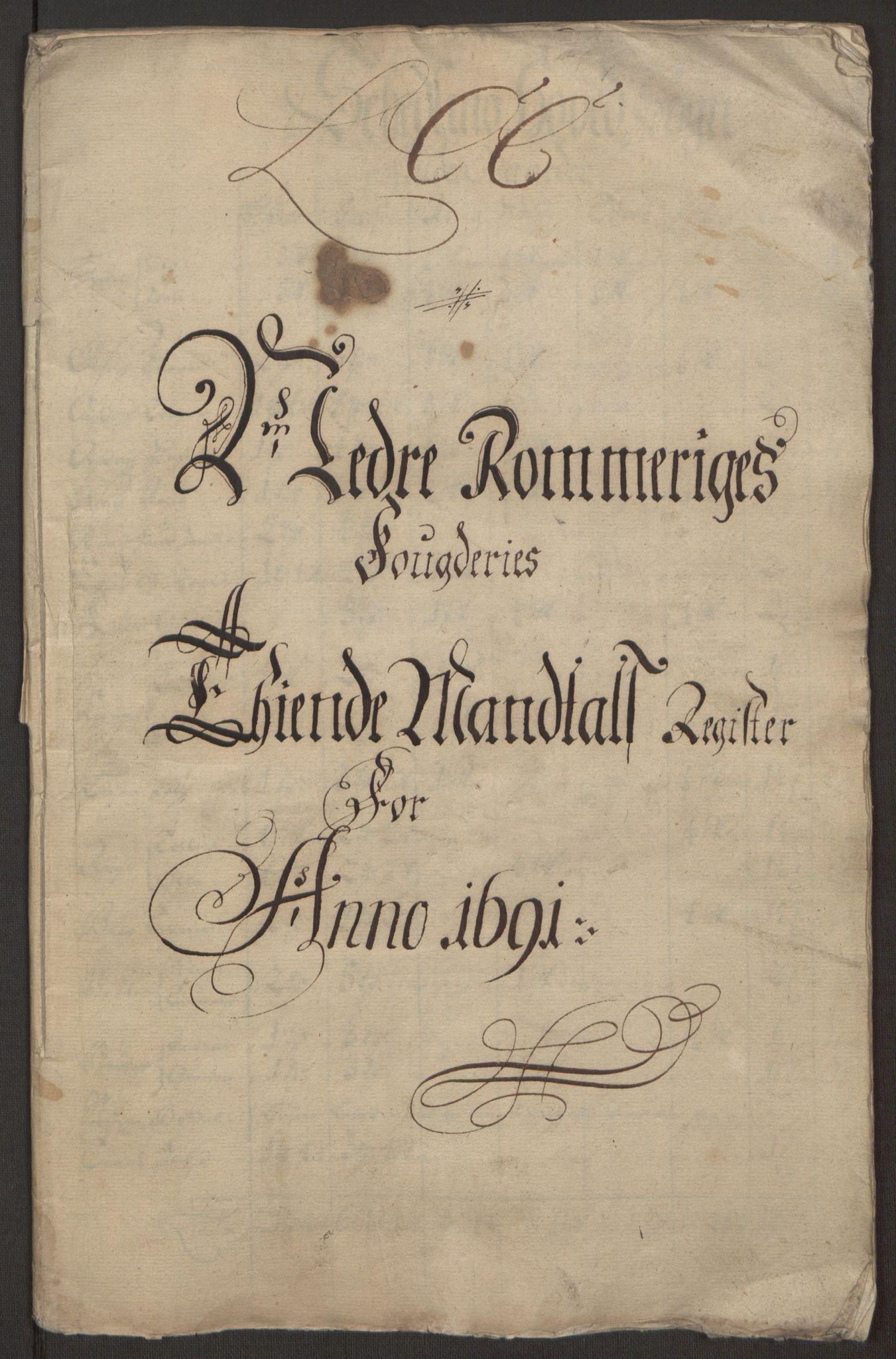 RA, Rentekammeret inntil 1814, Reviderte regnskaper, Fogderegnskap, R11/L0575: Fogderegnskap Nedre Romerike, 1691, s. 175