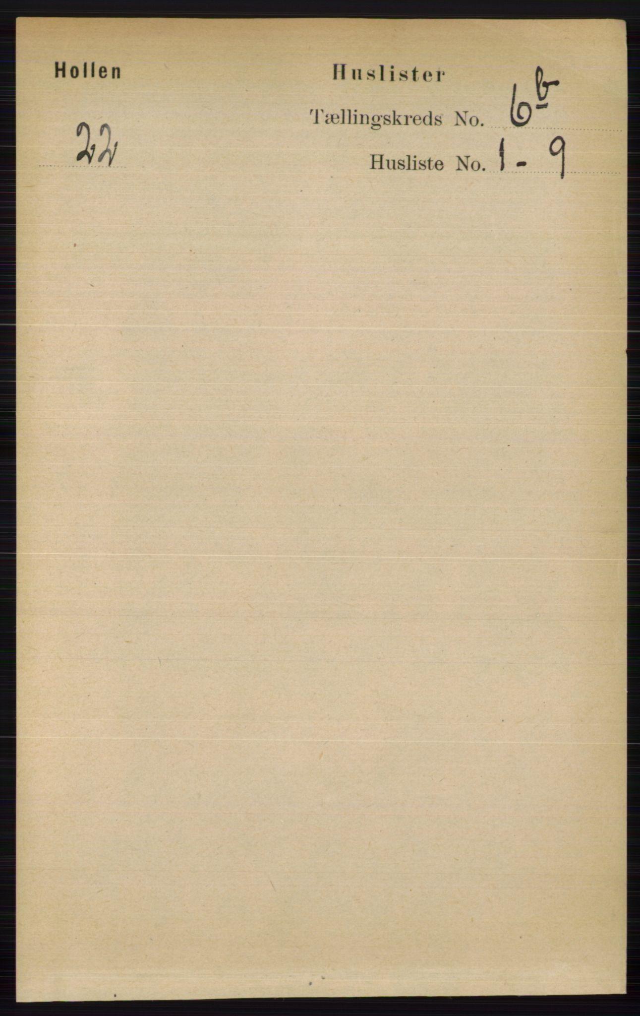 RA, Folketelling 1891 for 0819 Holla herred, 1891, s. 3159