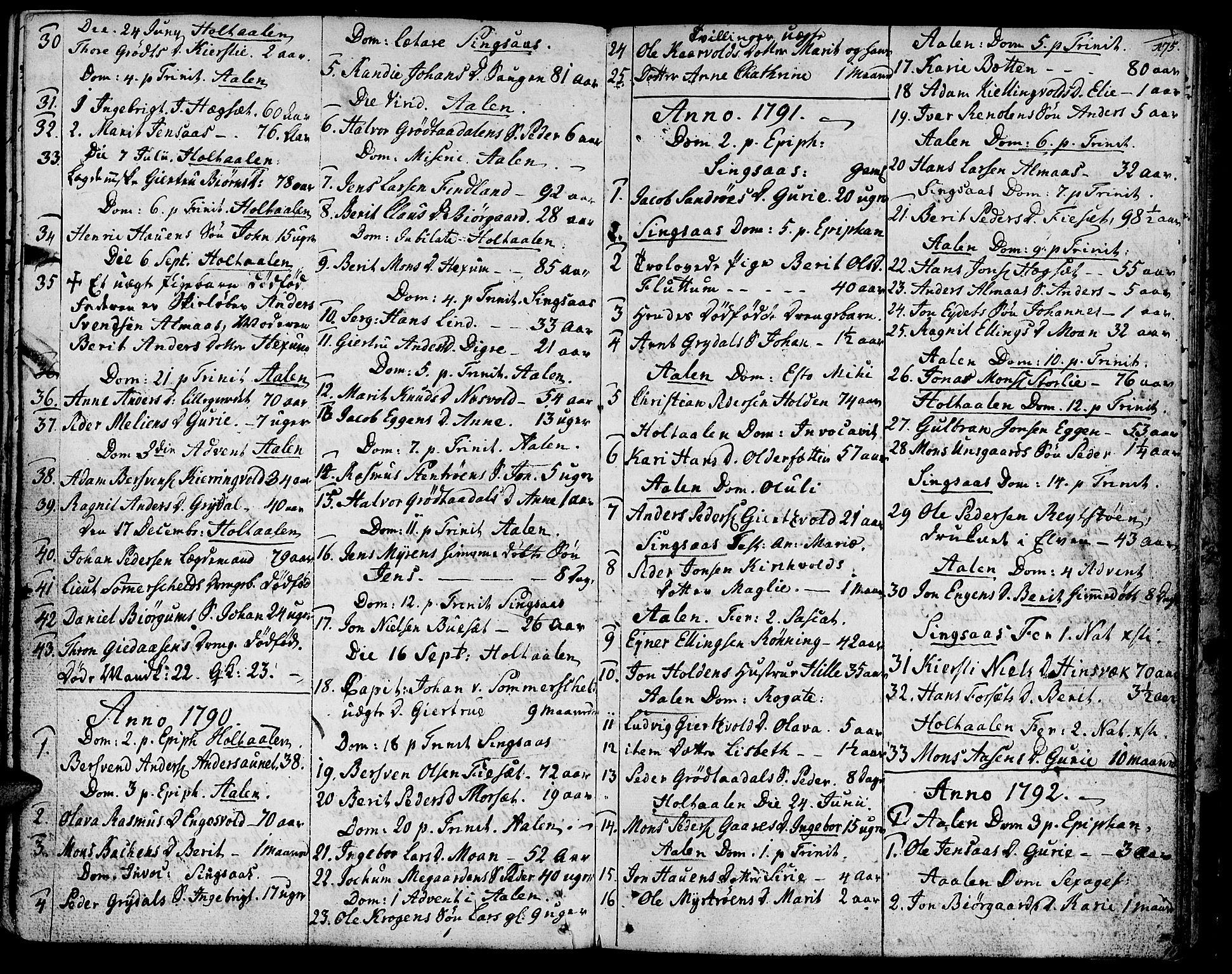 SAT, Ministerialprotokoller, klokkerbøker og fødselsregistre - Sør-Trøndelag, 685/L0952: Ministerialbok nr. 685A01, 1745-1804, s. 175