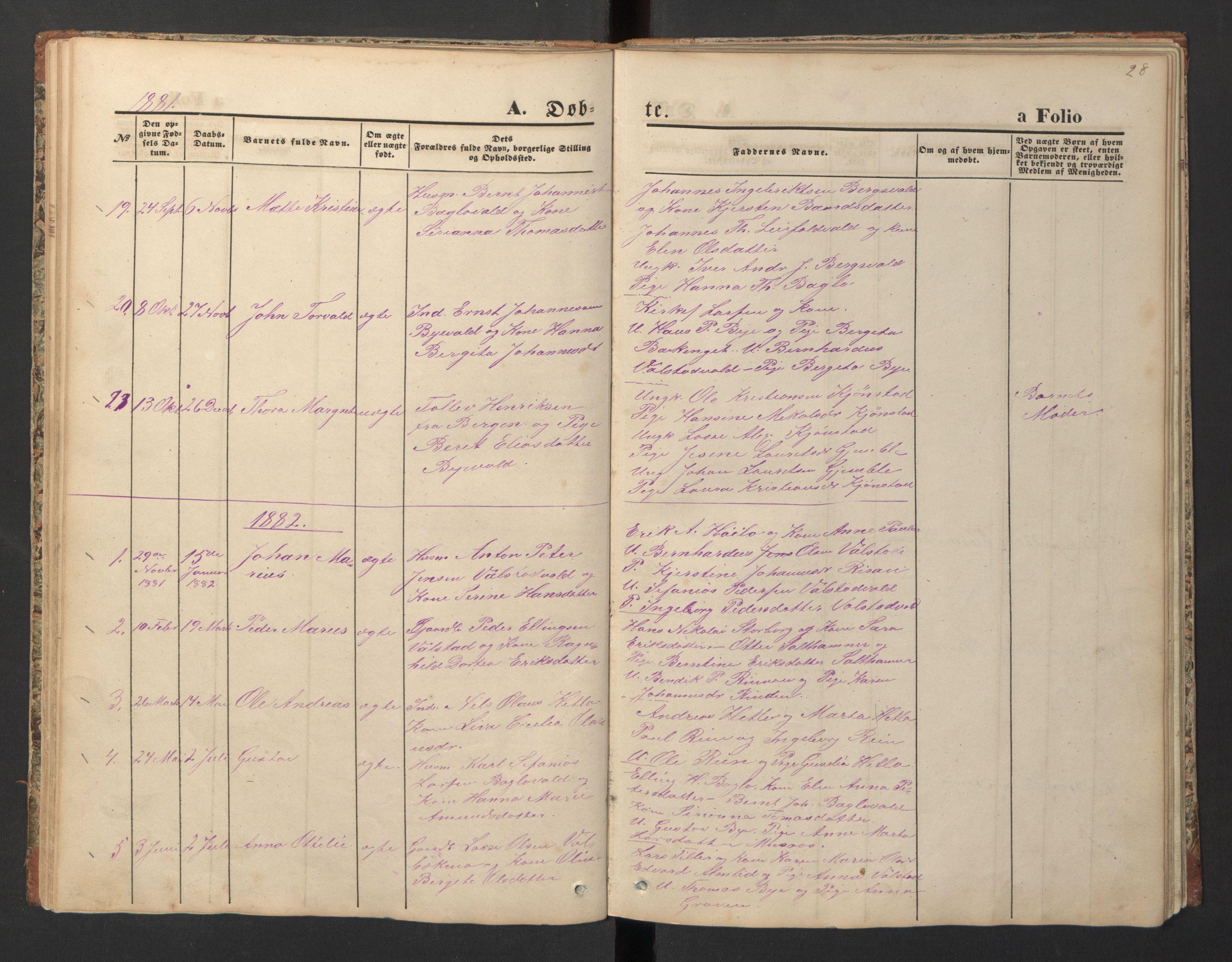 SAT, Ministerialprotokoller, klokkerbøker og fødselsregistre - Nord-Trøndelag, 726/L0271: Klokkerbok nr. 726C02, 1869-1897, s. 28