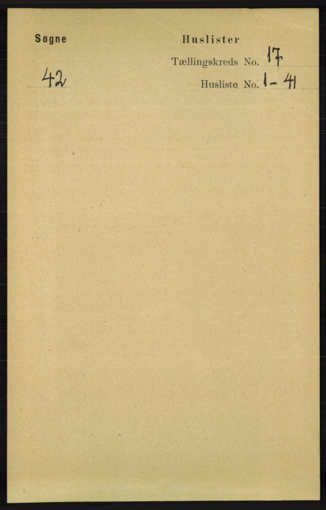 RA, Folketelling 1891 for 1018 Søgne herred, 1891, s. 4466