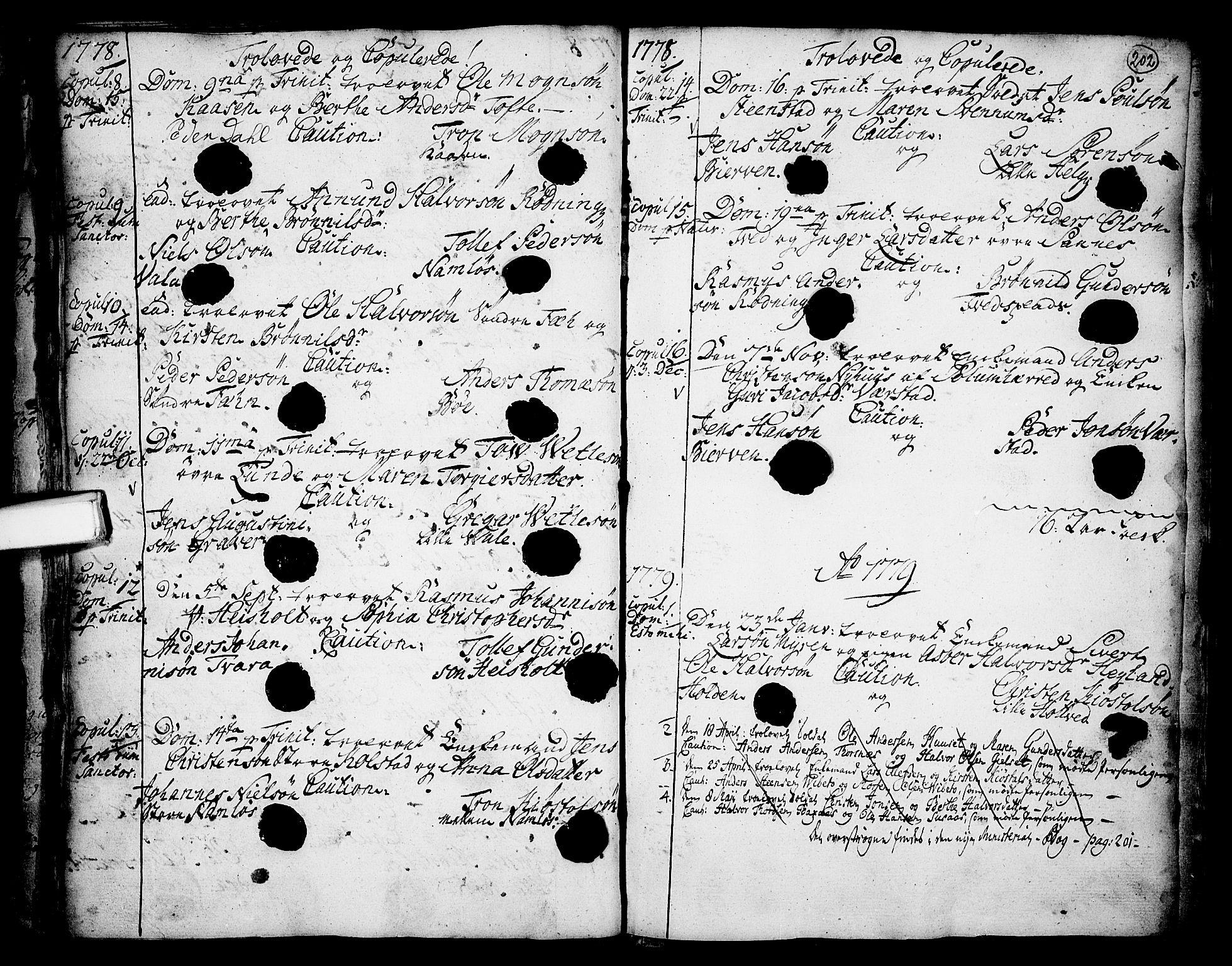 SAKO, Holla kirkebøker, F/Fa/L0001: Ministerialbok nr. 1, 1717-1779, s. 202