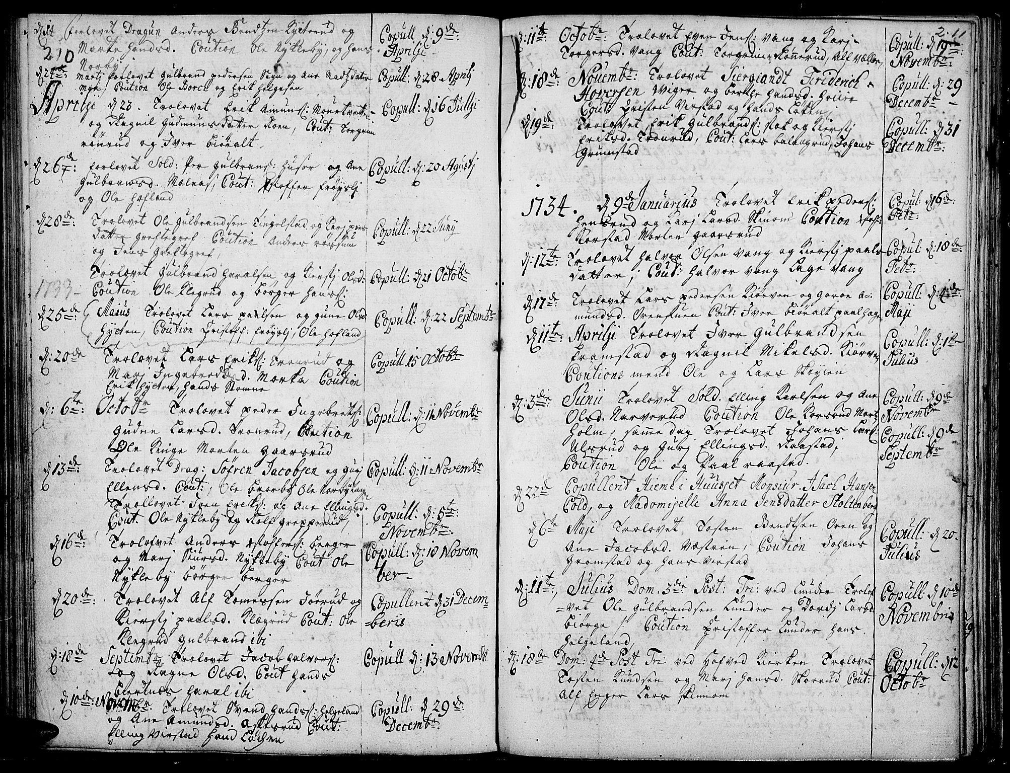 SAH, Jevnaker prestekontor, Ministerialbok nr. 2, 1725-1751, s. 210-211