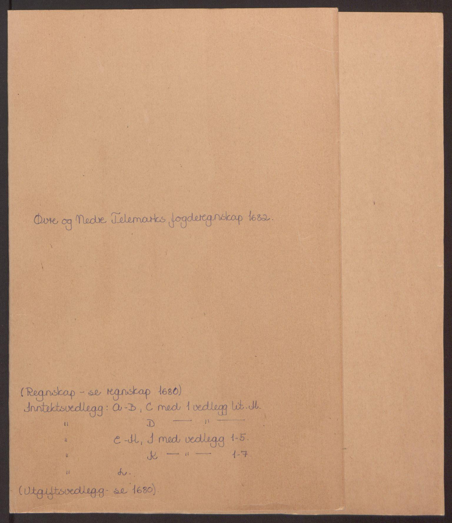 RA, Rentekammeret inntil 1814, Reviderte regnskaper, Fogderegnskap, R35/L2078: Fogderegnskap Øvre og Nedre Telemark, 1680-1684, s. 2