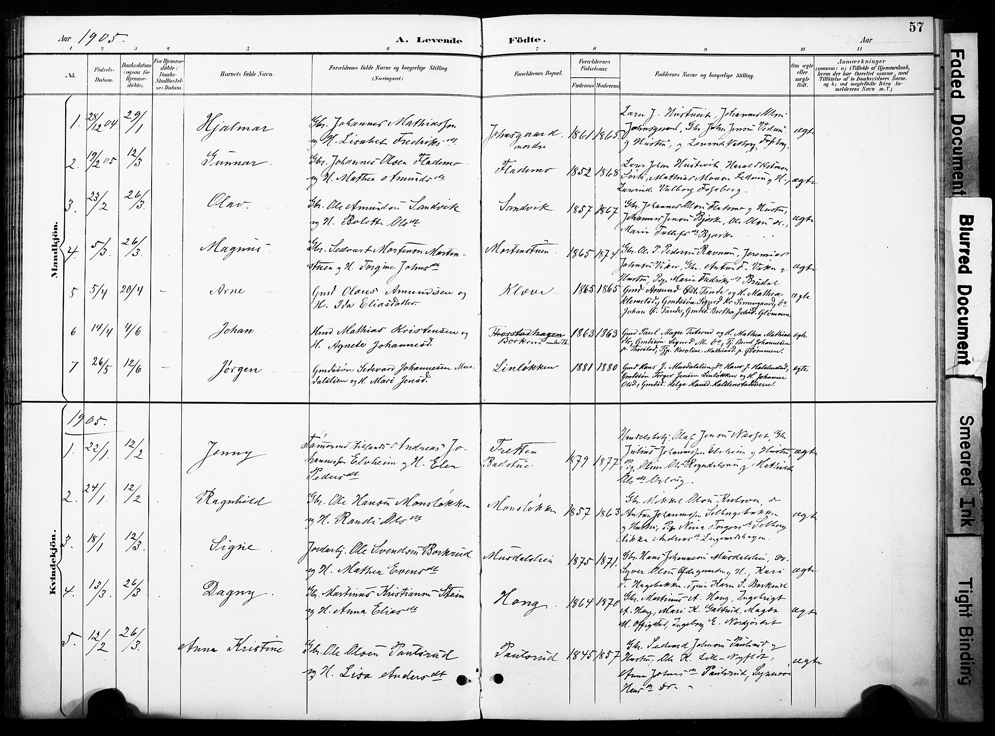 SAH, Øyer prestekontor, Ministerialbok nr. 11, 1894-1905, s. 57