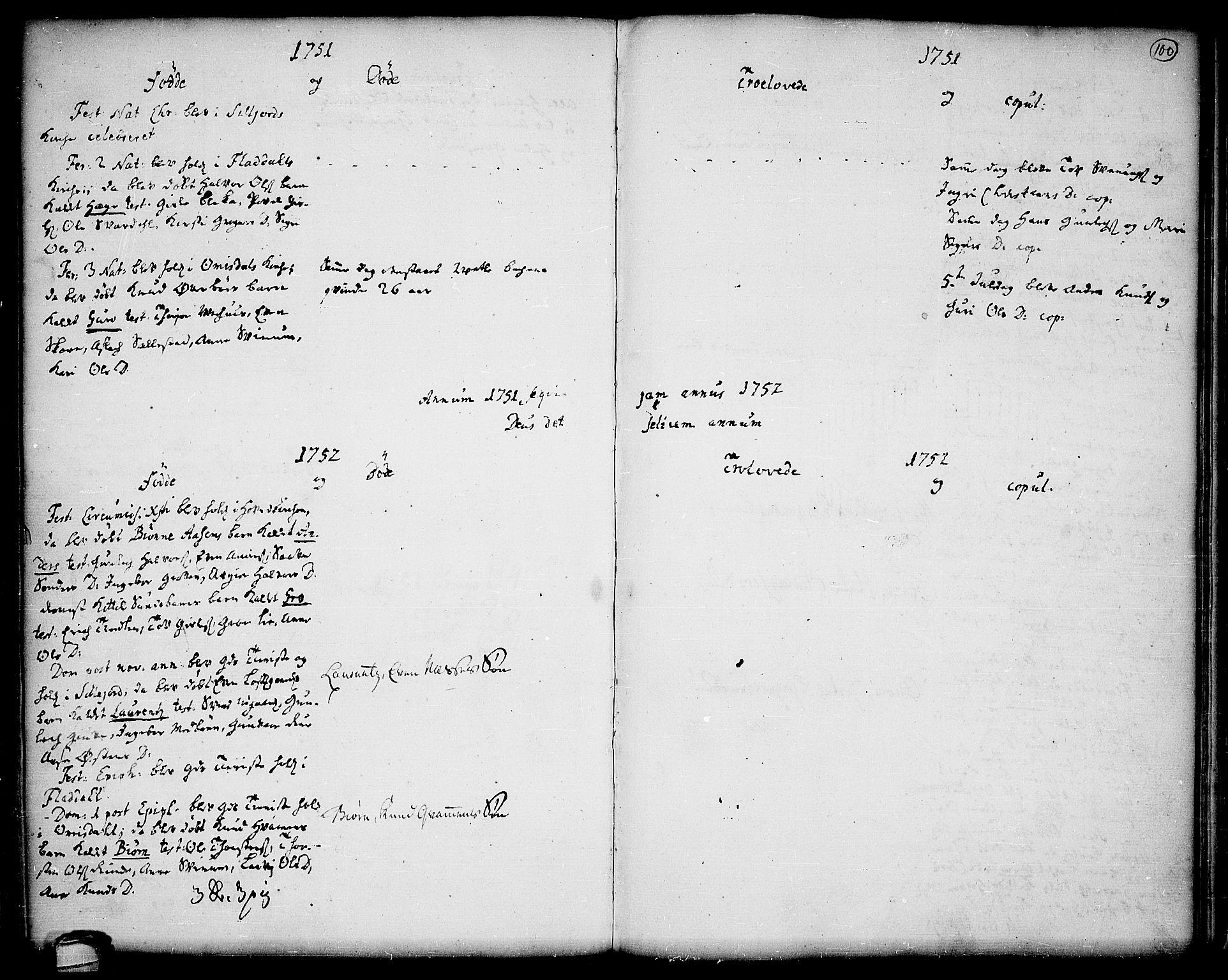 SAKO, Seljord kirkebøker, F/Fa/L0006: Ministerialbok nr. I 6, 1744-1755, s. 100