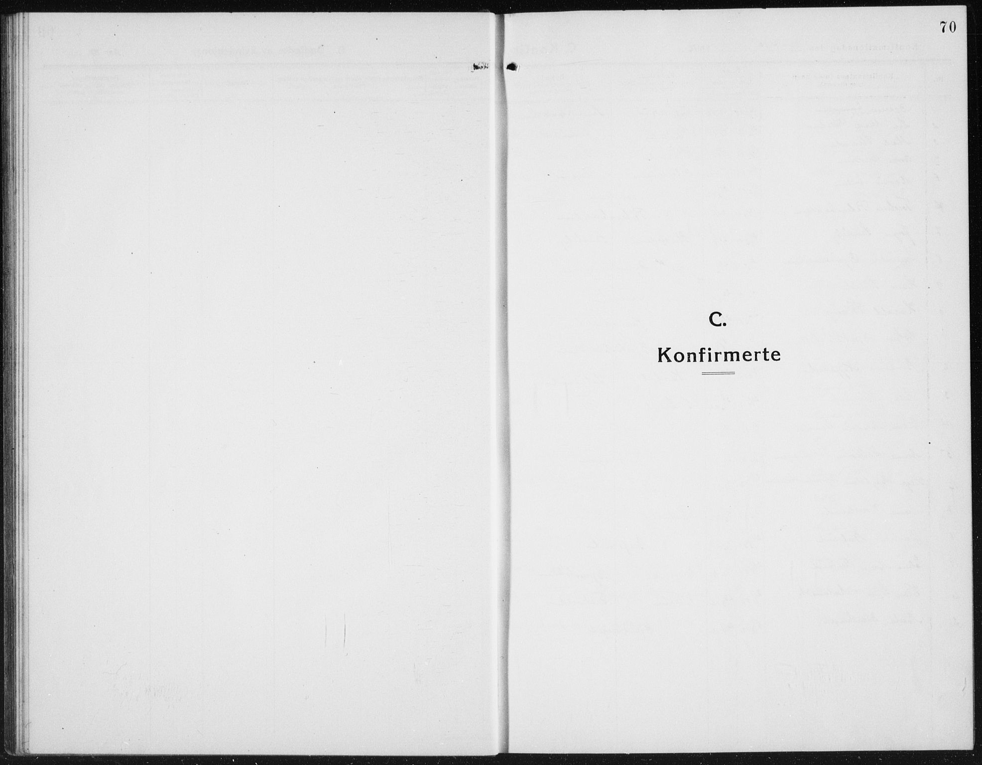 SAH, Kolbu prestekontor, Klokkerbok nr. 6, 1916-1934, s. 70