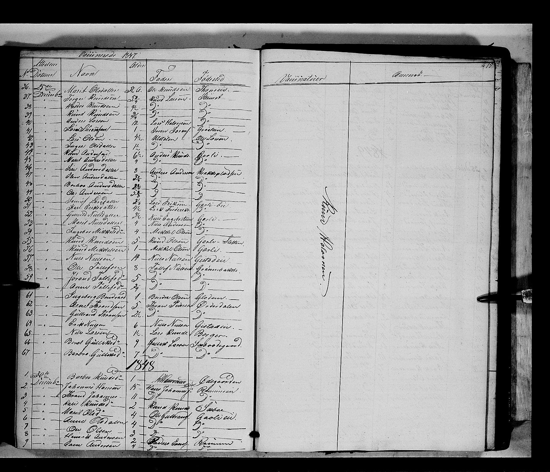 SAH, Nord-Aurdal prestekontor, Ministerialbok nr. 7, 1842-1863, s. 275