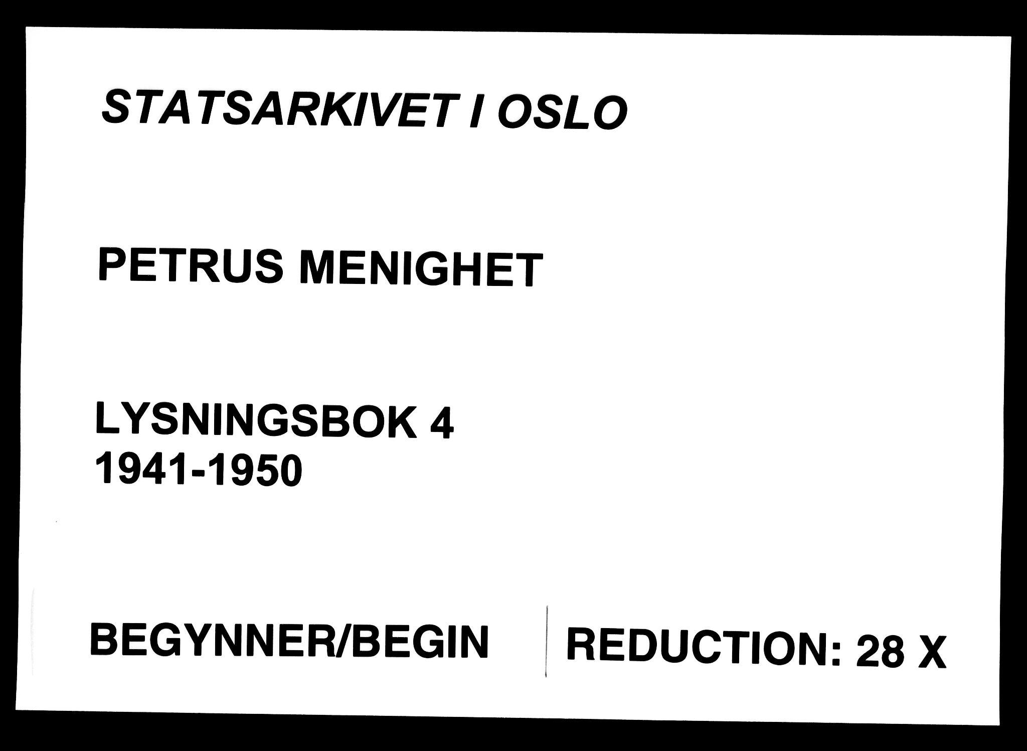 SAO, Petrus prestekontor Kirkebøker, H/Ha/L0004: Lysningsprotokoll nr. 4, 1941-1950