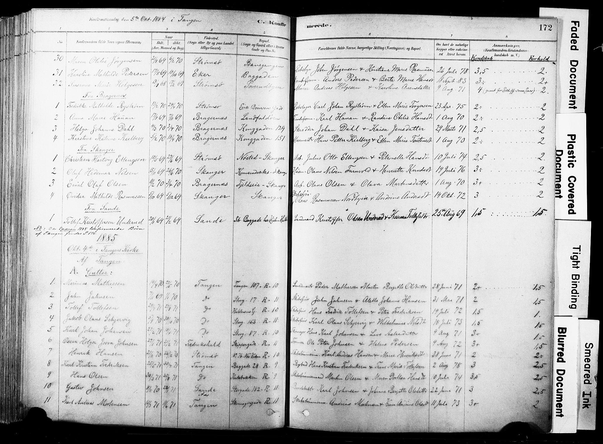 SAKO, Strømsø kirkebøker, F/Fb/L0006: Ministerialbok nr. II 6, 1879-1910, s. 172