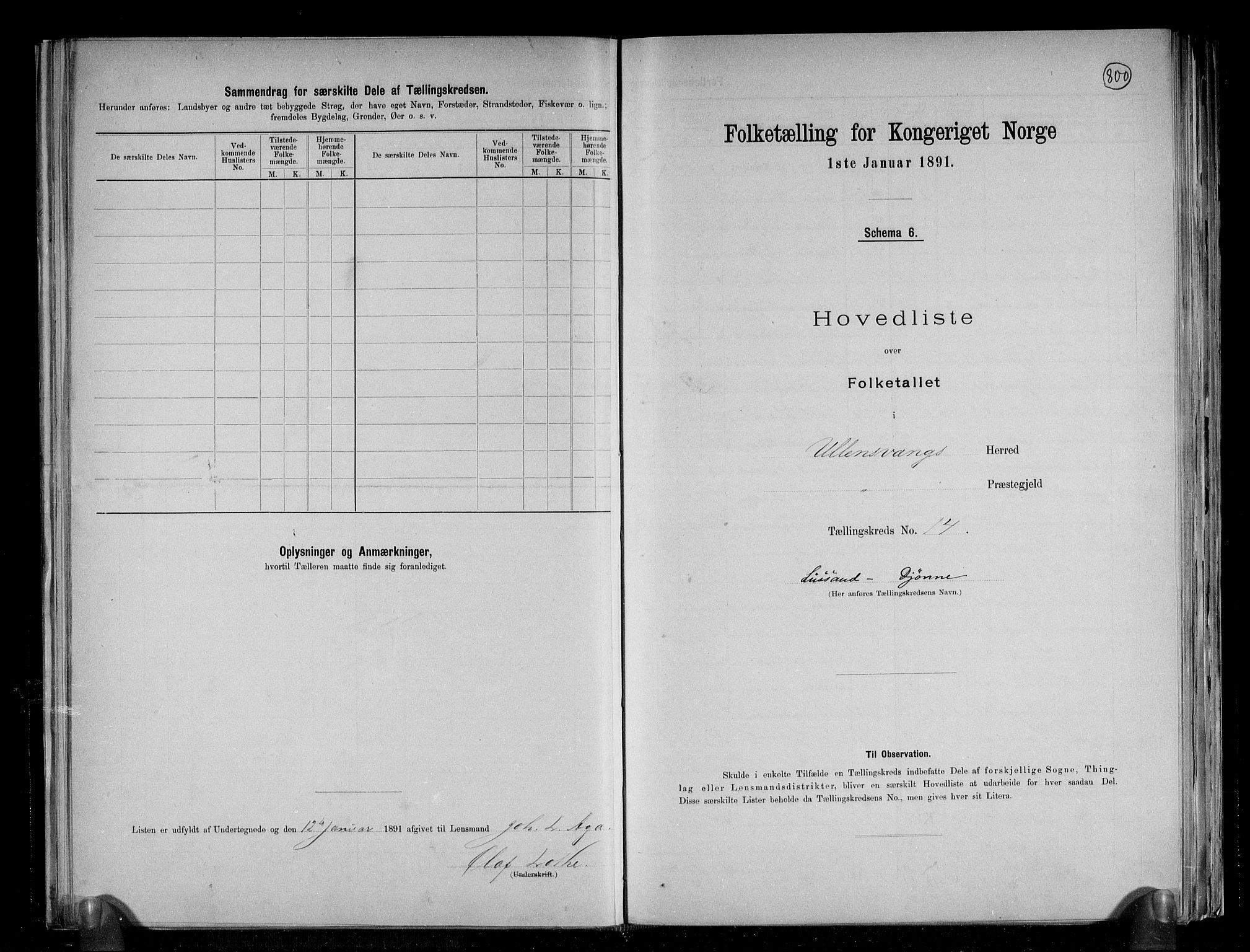 RA, Folketelling 1891 for 1230 Ullensvang herred, 1891, s. 37