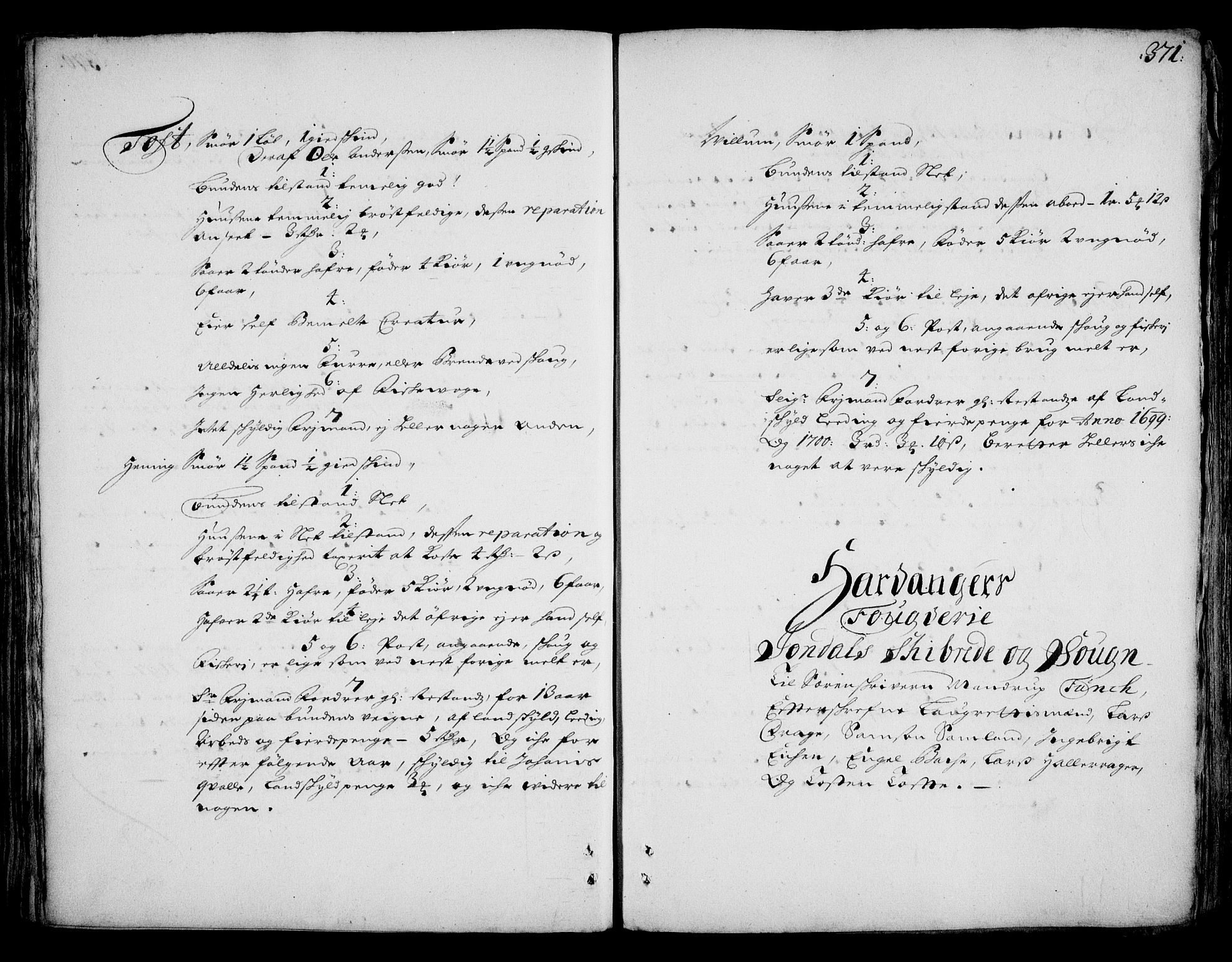RA, Rentekammeret inntil 1814, Realistisk ordnet avdeling, On/L0002: [Jj 3]: Besiktigelsesforretninger over Halsnøy klosters gods, 1659-1703, s. 370b-371a