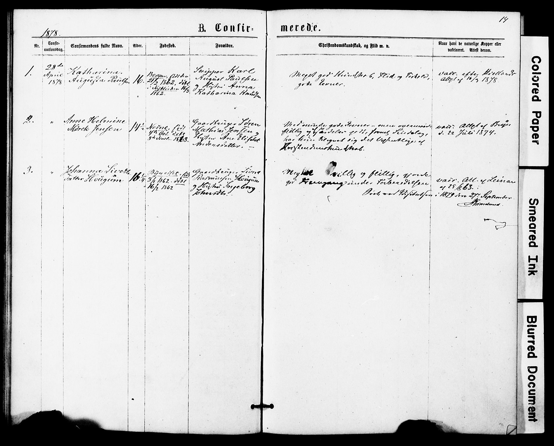 SAT, Ministerialprotokoller, klokkerbøker og fødselsregistre - Sør-Trøndelag, 623/L0469: Ministerialbok nr. 623A03, 1868-1883, s. 14
