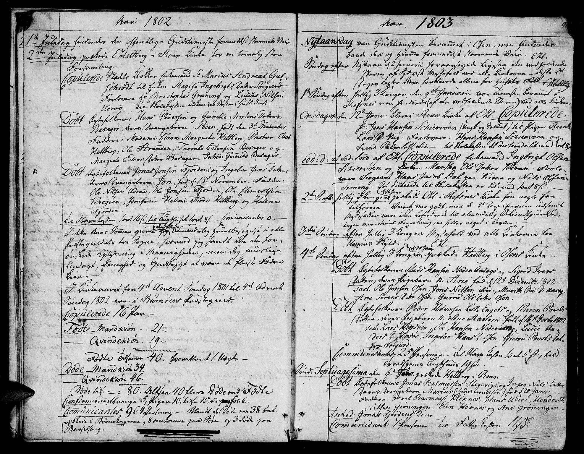 SAT, Ministerialprotokoller, klokkerbøker og fødselsregistre - Sør-Trøndelag, 657/L0701: Ministerialbok nr. 657A02, 1802-1831, s. 9
