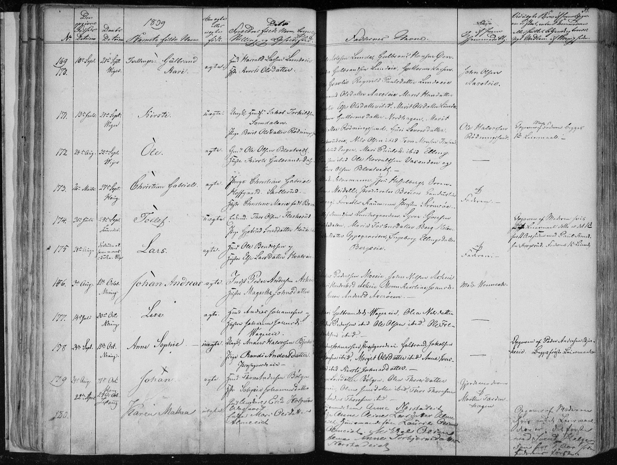 SAKO, Norderhov kirkebøker, F/Fa/L0010: Ministerialbok nr. 10, 1837-1847, s. 38