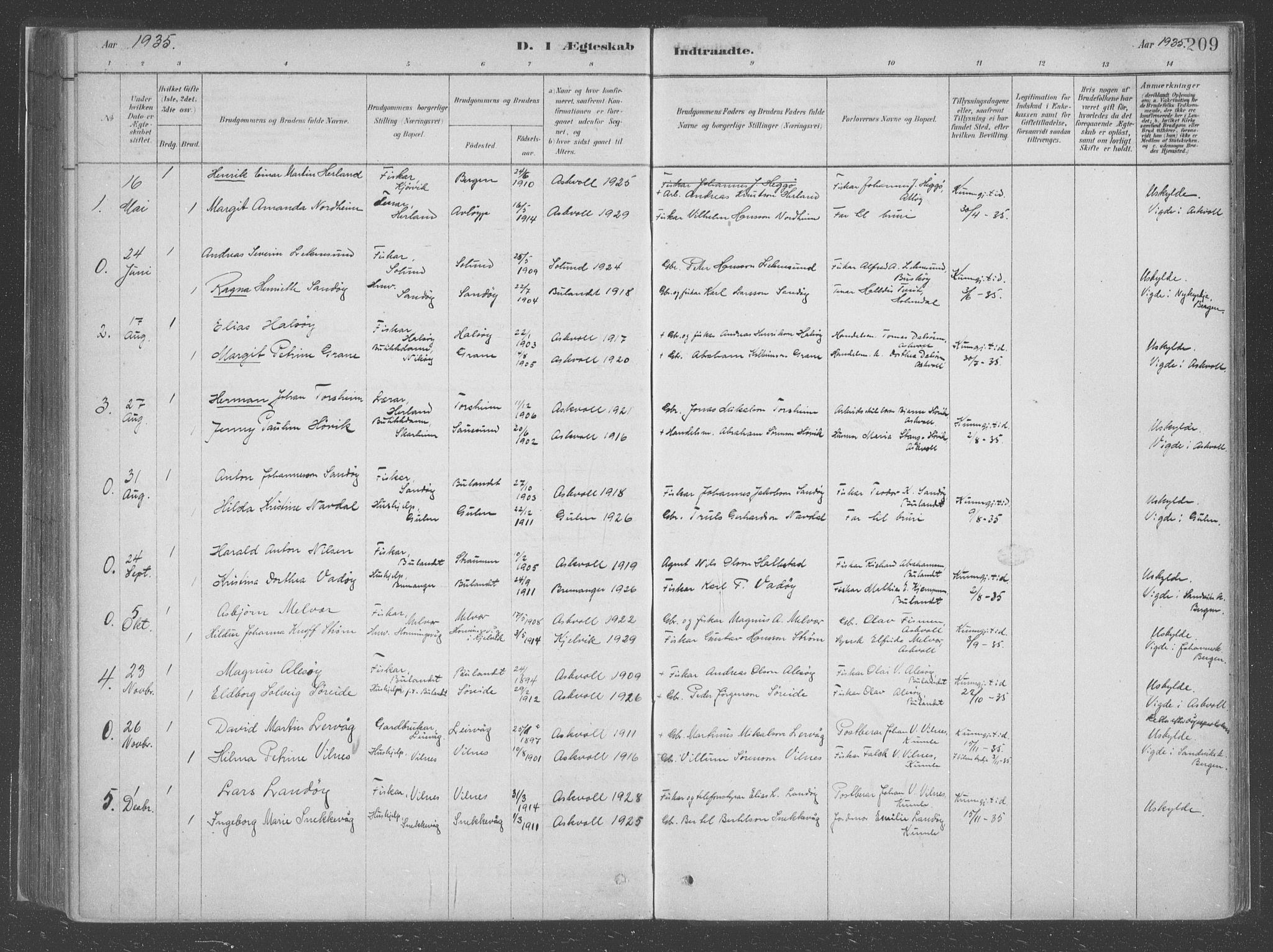 SAB, Askvoll Sokneprestembete, Ministerialbok nr. C  1, 1879-1922, s. 209