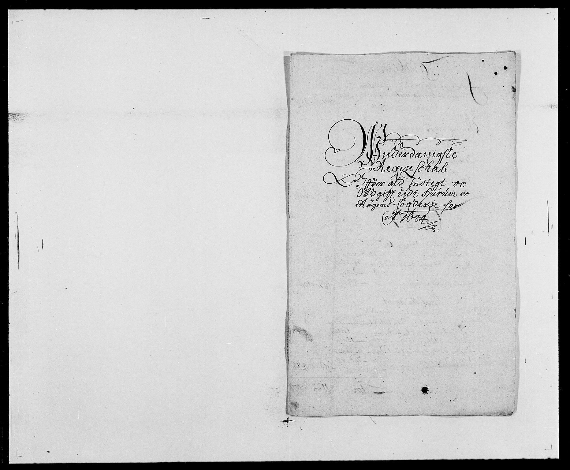 RA, Rentekammeret inntil 1814, Reviderte regnskaper, Fogderegnskap, R29/L1692: Fogderegnskap Hurum og Røyken, 1682-1687, s. 182
