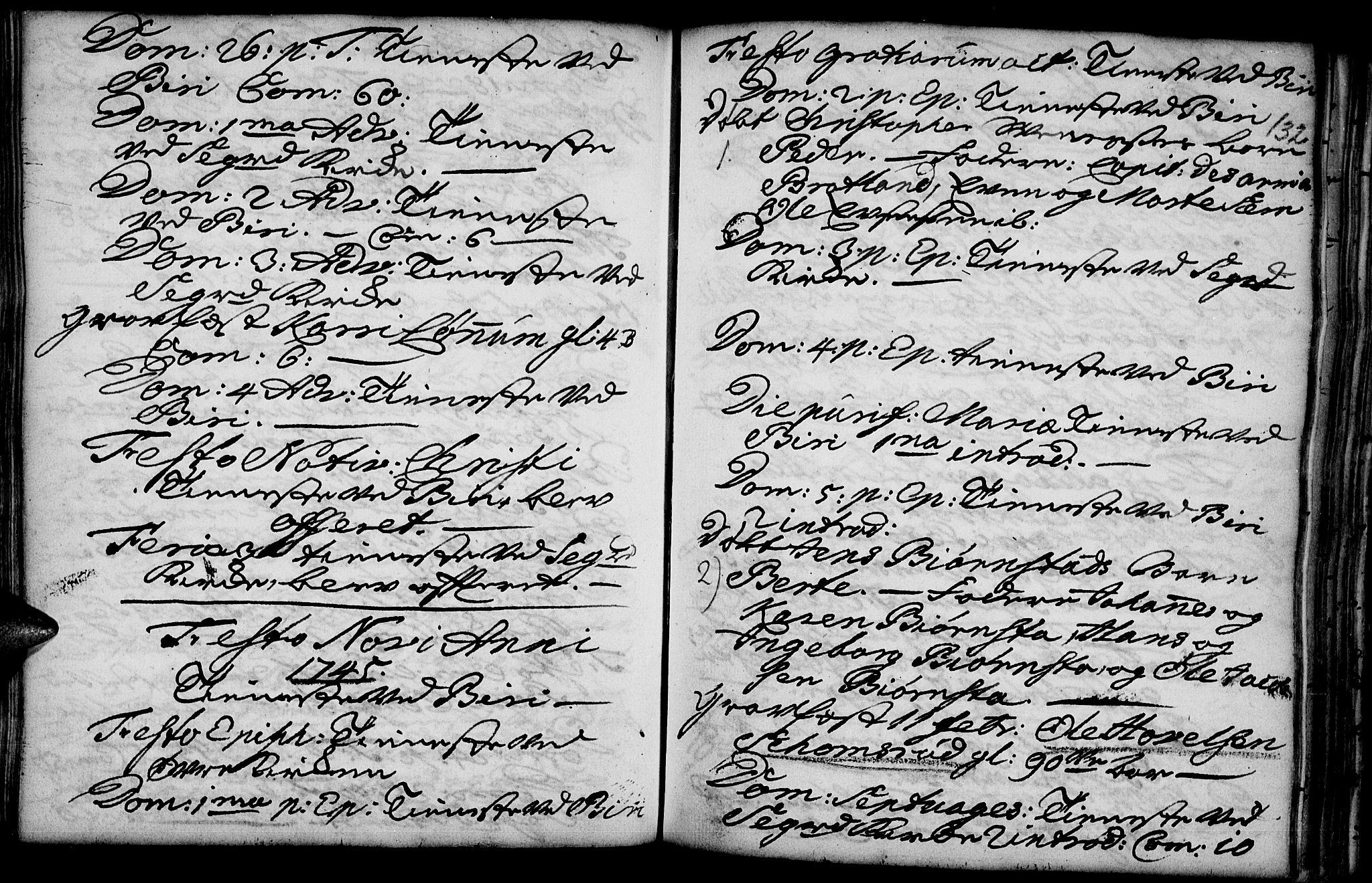 SAH, Biri prestekontor, Ministerialbok nr. 1, 1730-1754, s. 132