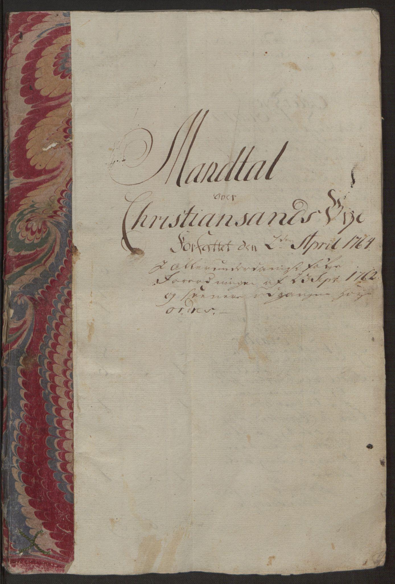 RA, Rentekammeret inntil 1814, Reviderte regnskaper, Byregnskaper, R/Rm/L0265: [M6] Kontribusjonsregnskap, 1762-1764, s. 208
