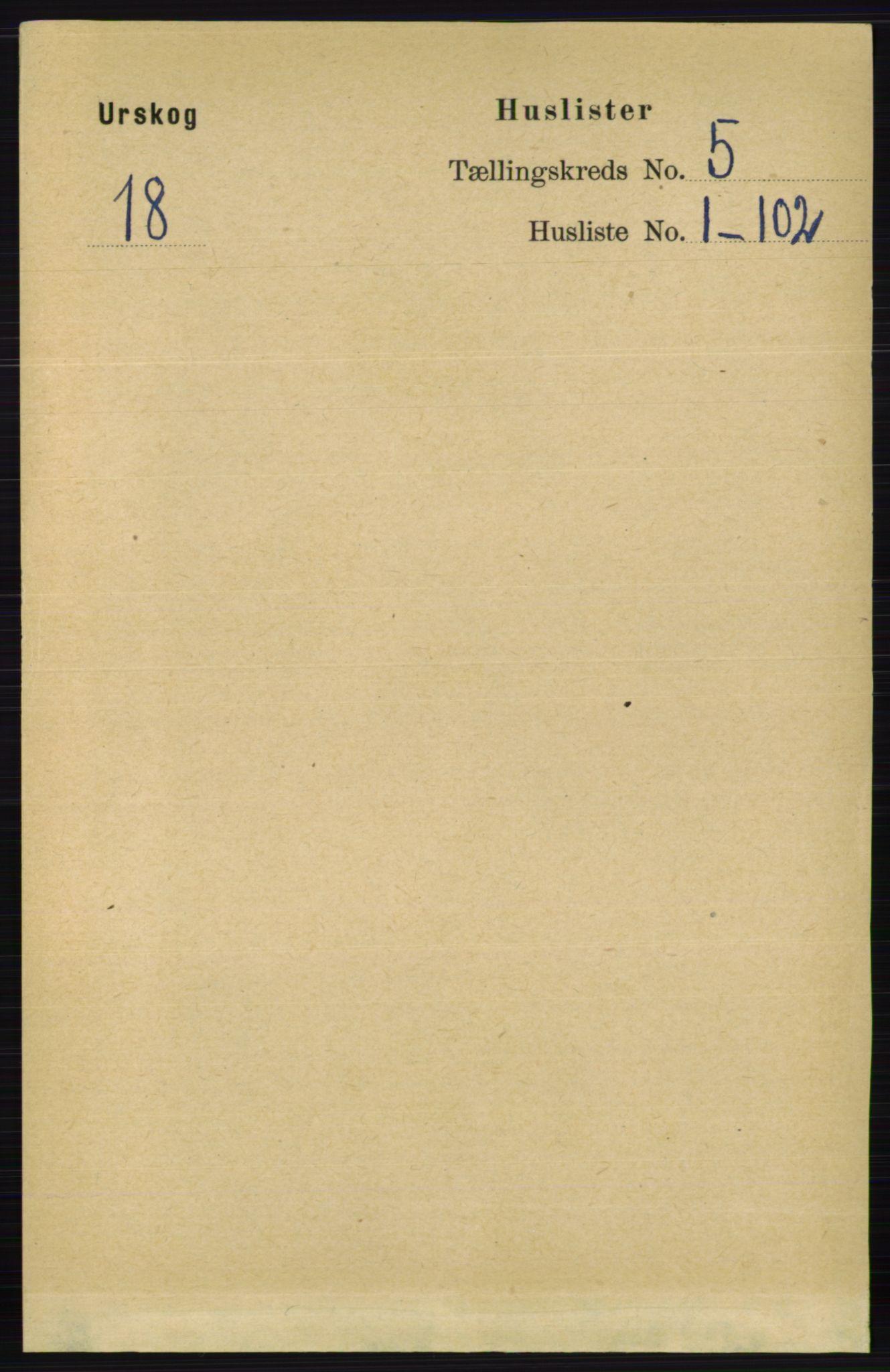RA, Folketelling 1891 for 0224 Aurskog herred, 1891, s. 1953