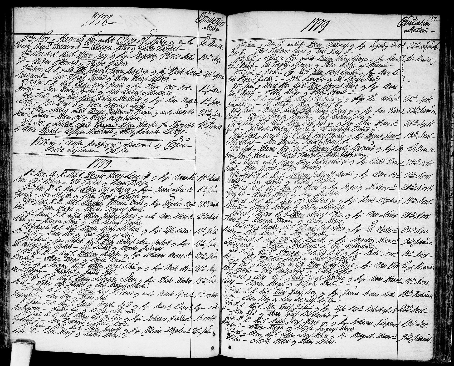 SAO, Asker prestekontor Kirkebøker, F/Fa/L0003: Ministerialbok nr. I 3, 1767-1807, s. 181