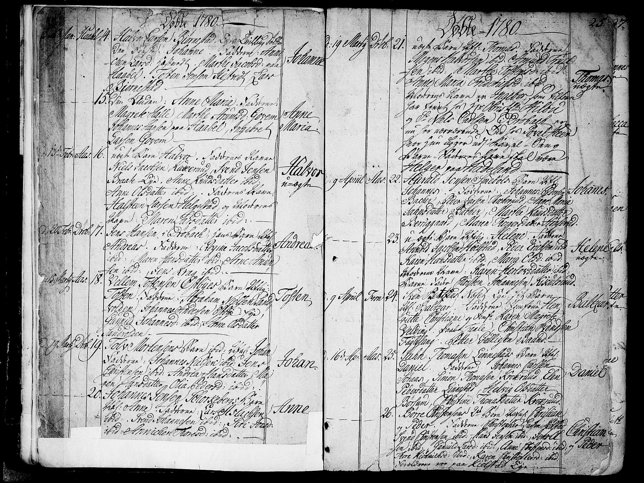 SAO, Ås prestekontor Kirkebøker, F/Fa/L0002: Ministerialbok nr. I 2, 1778-1813, s. 24-25