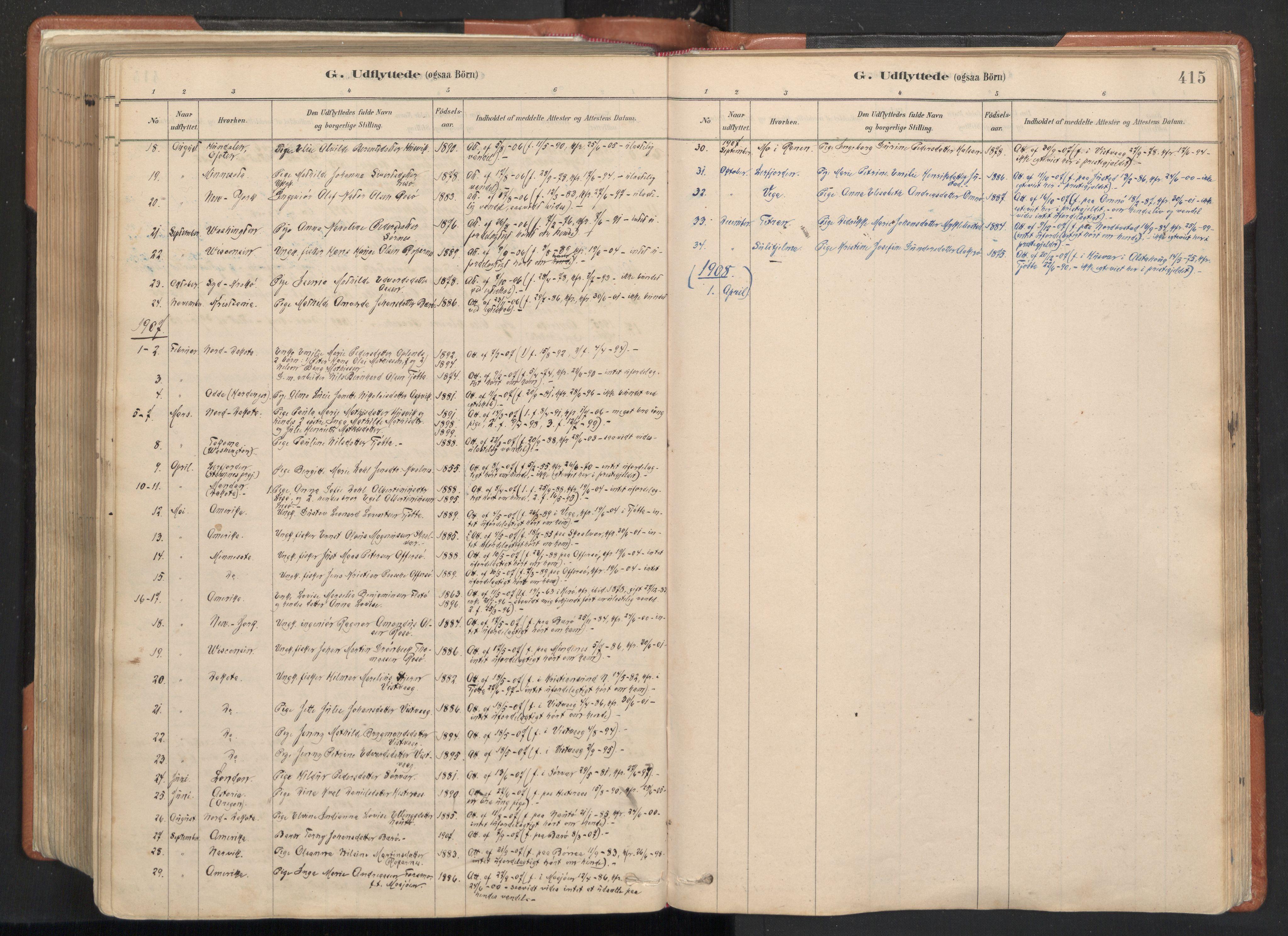 SAT, Ministerialprotokoller, klokkerbøker og fødselsregistre - Nordland, 817/L0264: Ministerialbok nr. 817A04, 1878-1907, s. 415