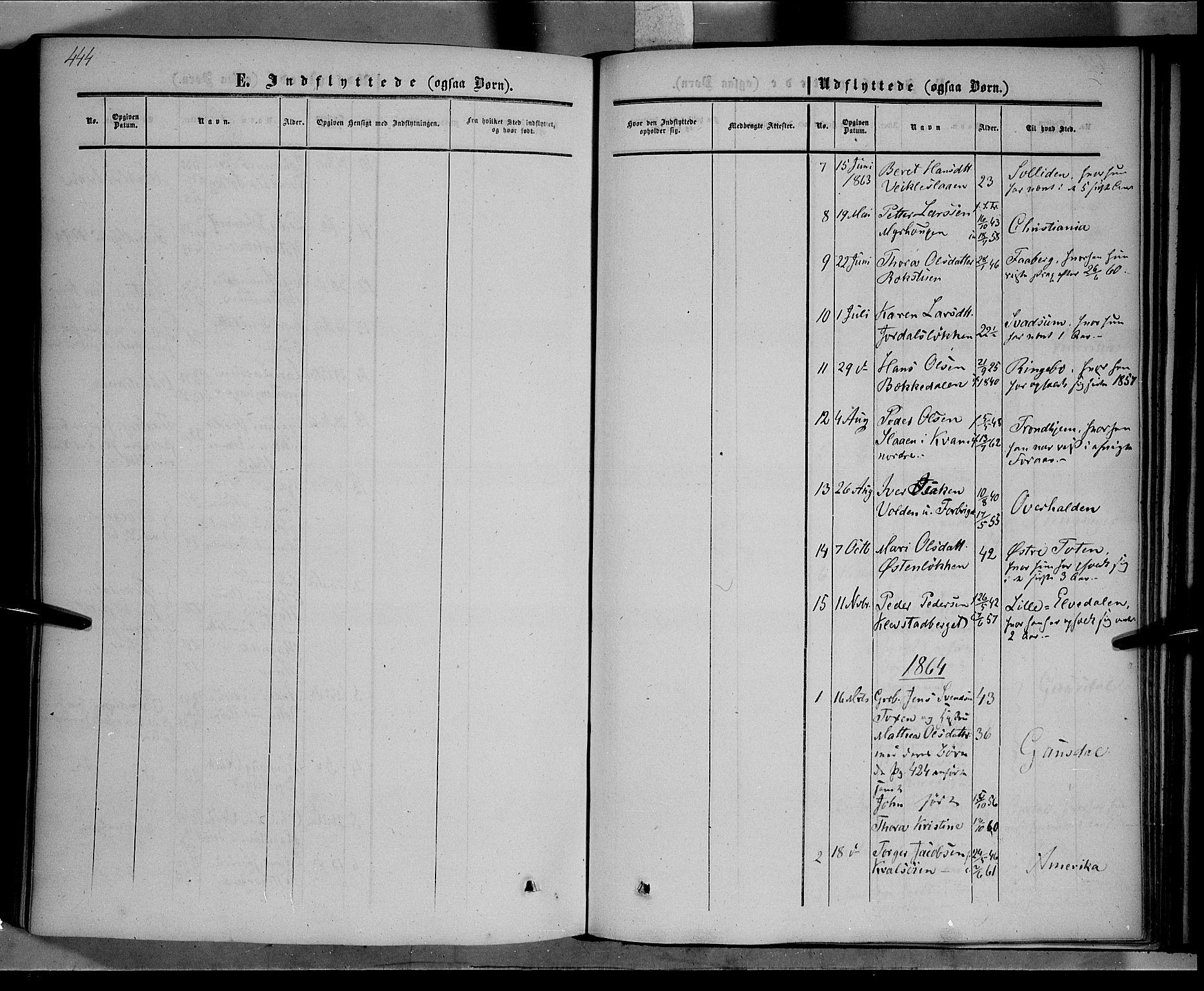 SAH, Nord-Fron prestekontor, Ministerialbok nr. 1, 1851-1864, s. 444