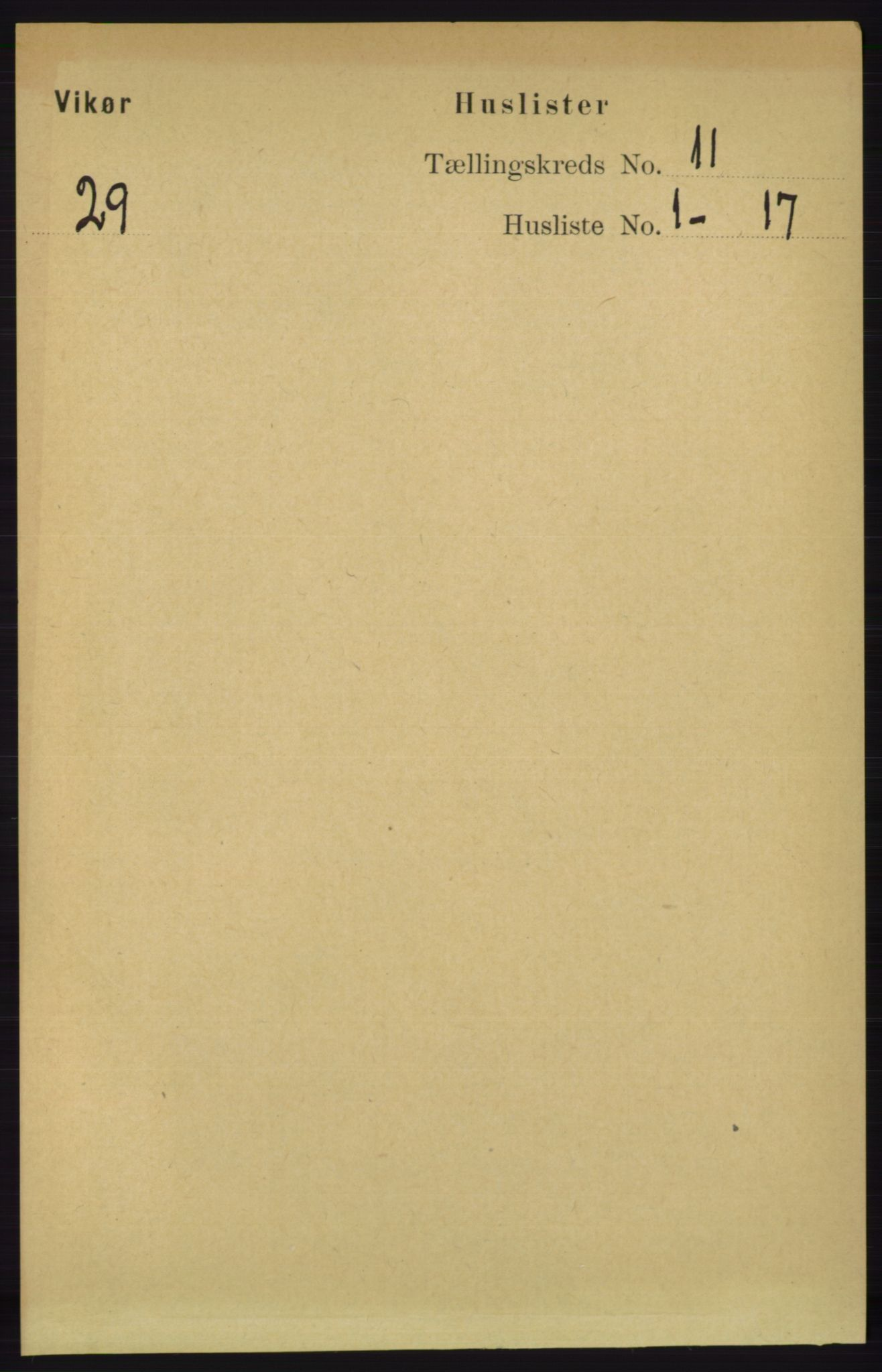 RA, Folketelling 1891 for 1238 Vikør herred, 1891, s. 3126