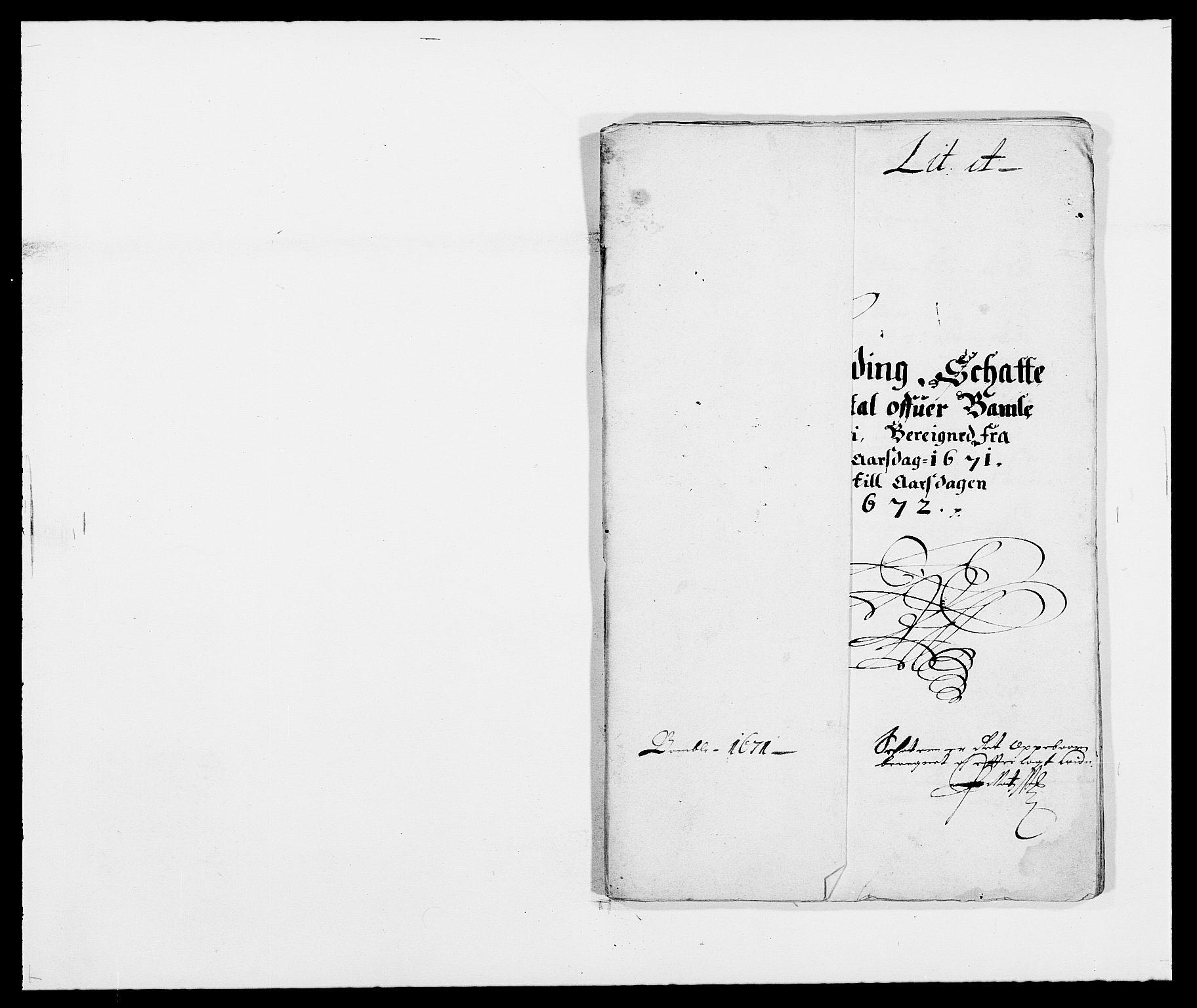 RA, Rentekammeret inntil 1814, Reviderte regnskaper, Fogderegnskap, R34/L2041: Fogderegnskap Bamble, 1670-1672, s. 136