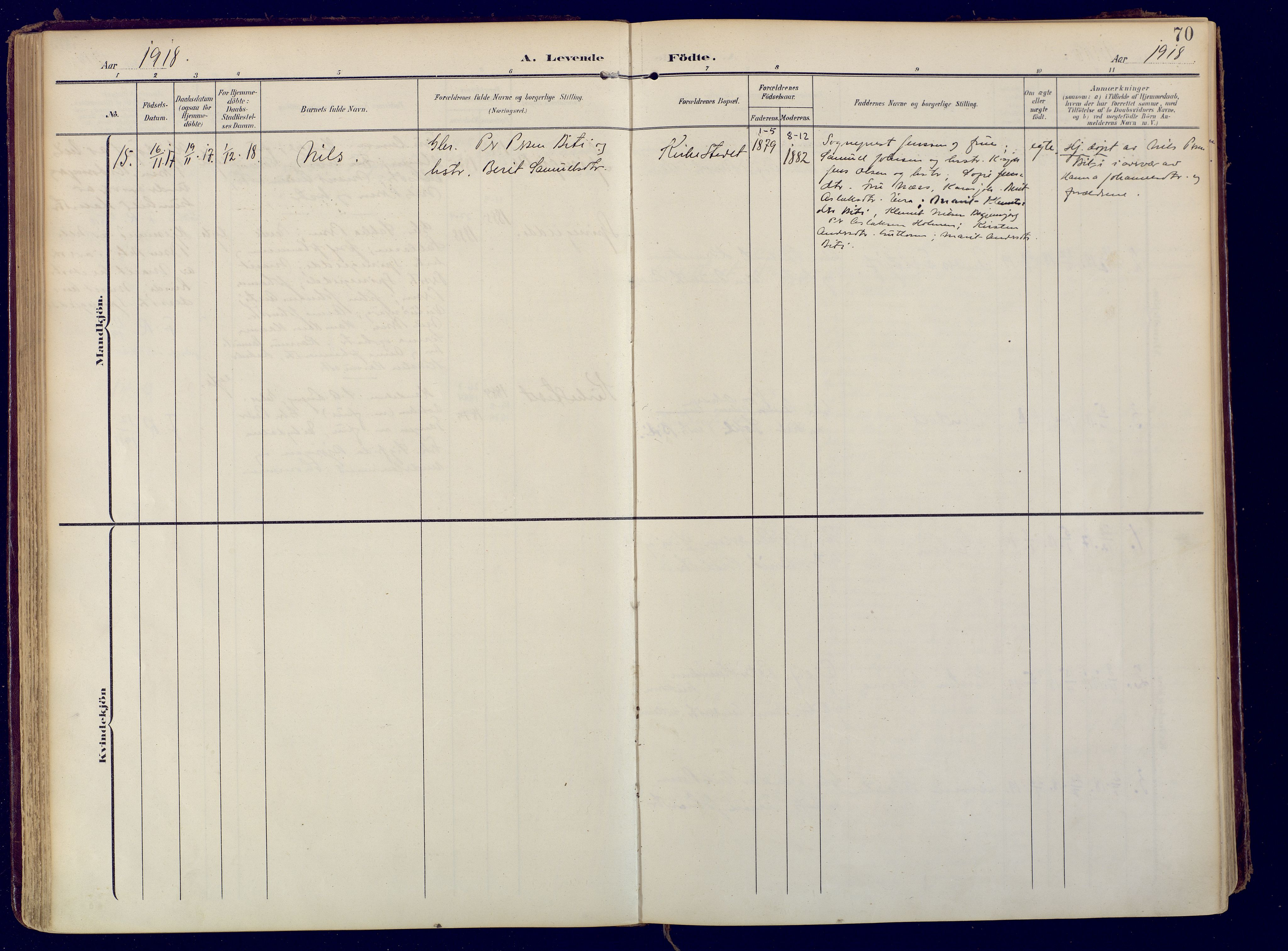 SATØ, Karasjok sokneprestkontor, H/Ha: Ministerialbok nr. 3, 1907-1926, s. 70