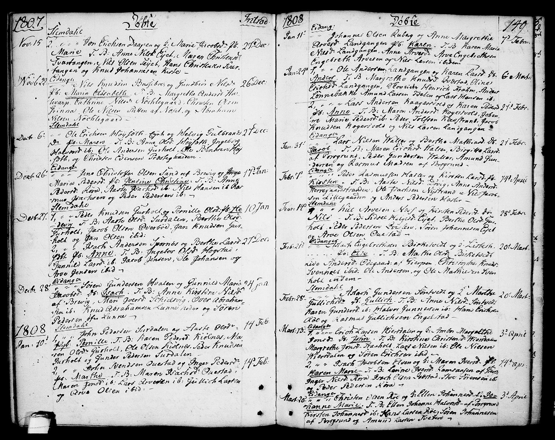 SAKO, Eidanger kirkebøker, F/Fa/L0006: Ministerialbok nr. 6, 1764-1814, s. 149