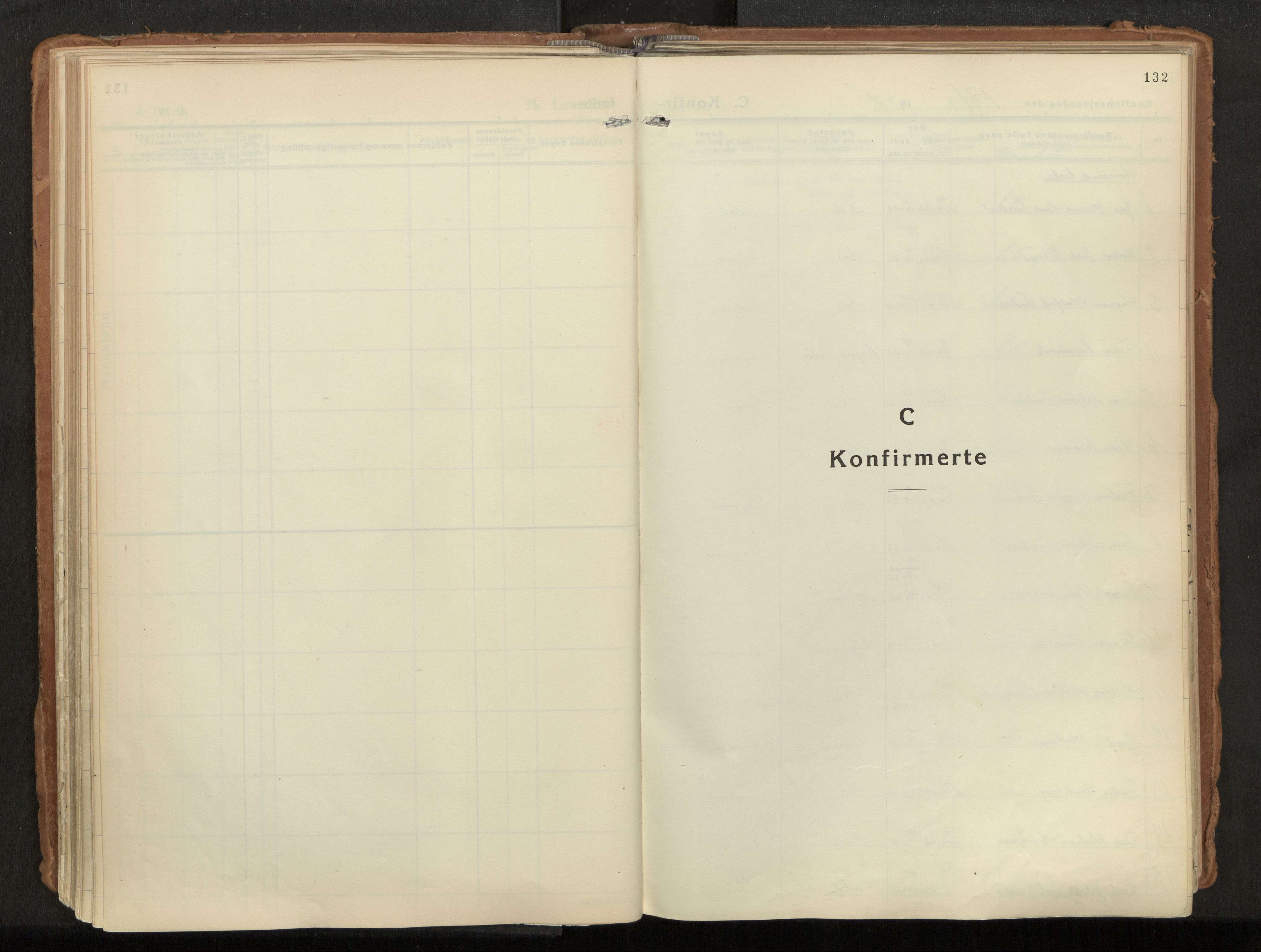 SAT, Ministerialprotokoller, klokkerbøker og fødselsregistre - Nordland, 882/L1182: Ministerialbok nr. 882A04, 1932-1950, s. 132