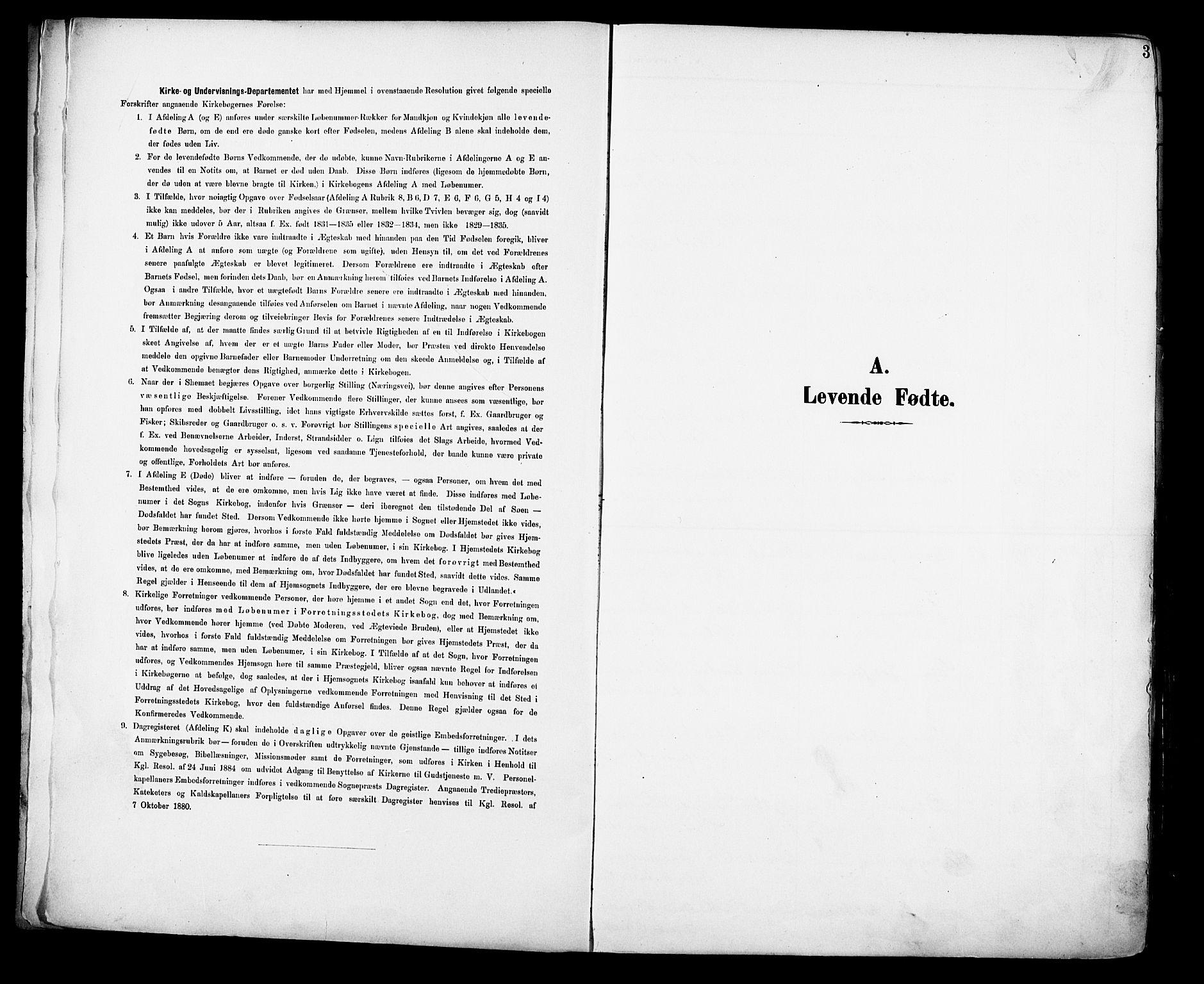 SAH, Vestre Toten prestekontor, Ministerialbok nr. 13, 1895-1911, s. 3