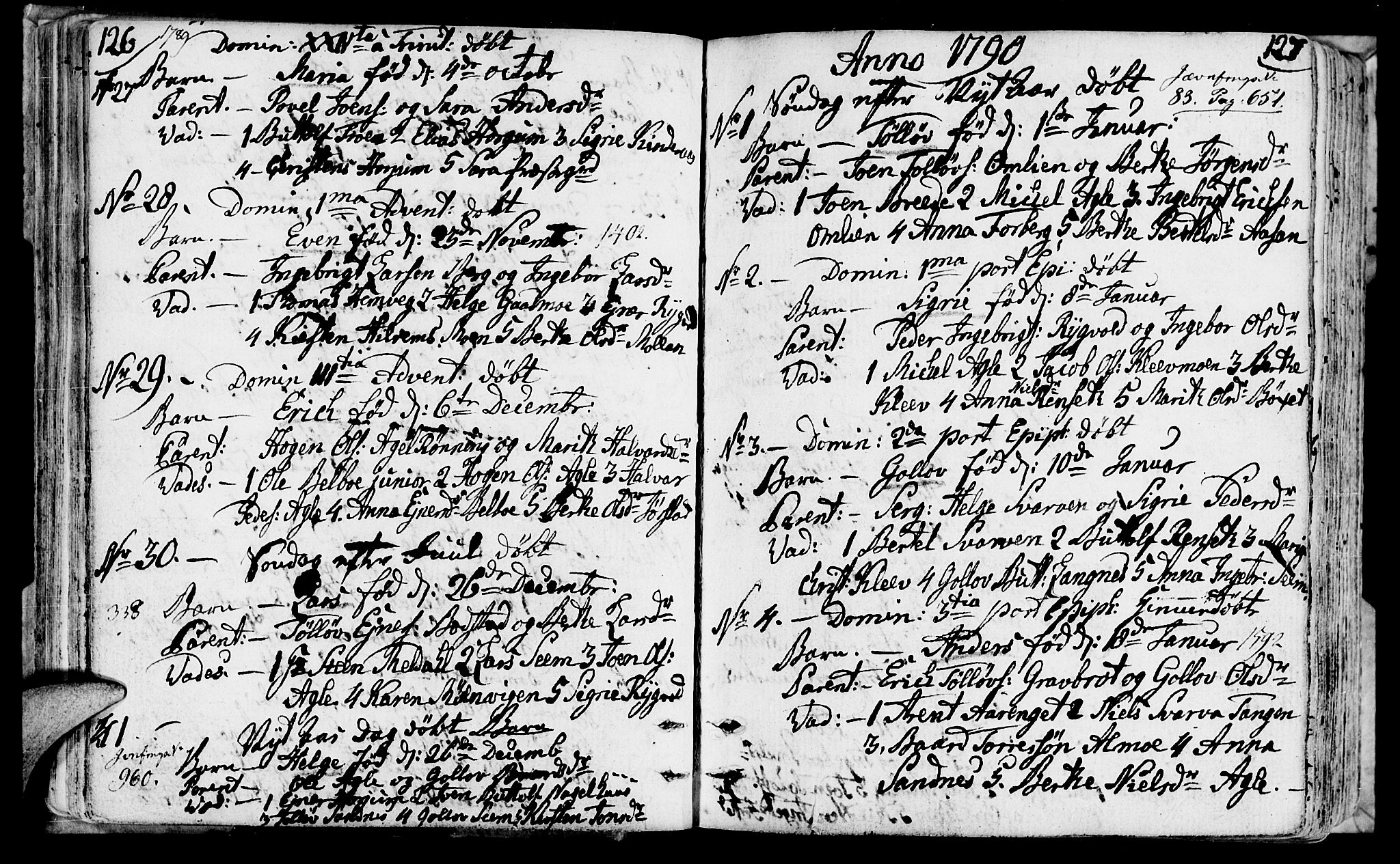 SAT, Ministerialprotokoller, klokkerbøker og fødselsregistre - Nord-Trøndelag, 749/L0468: Ministerialbok nr. 749A02, 1787-1817, s. 126-127