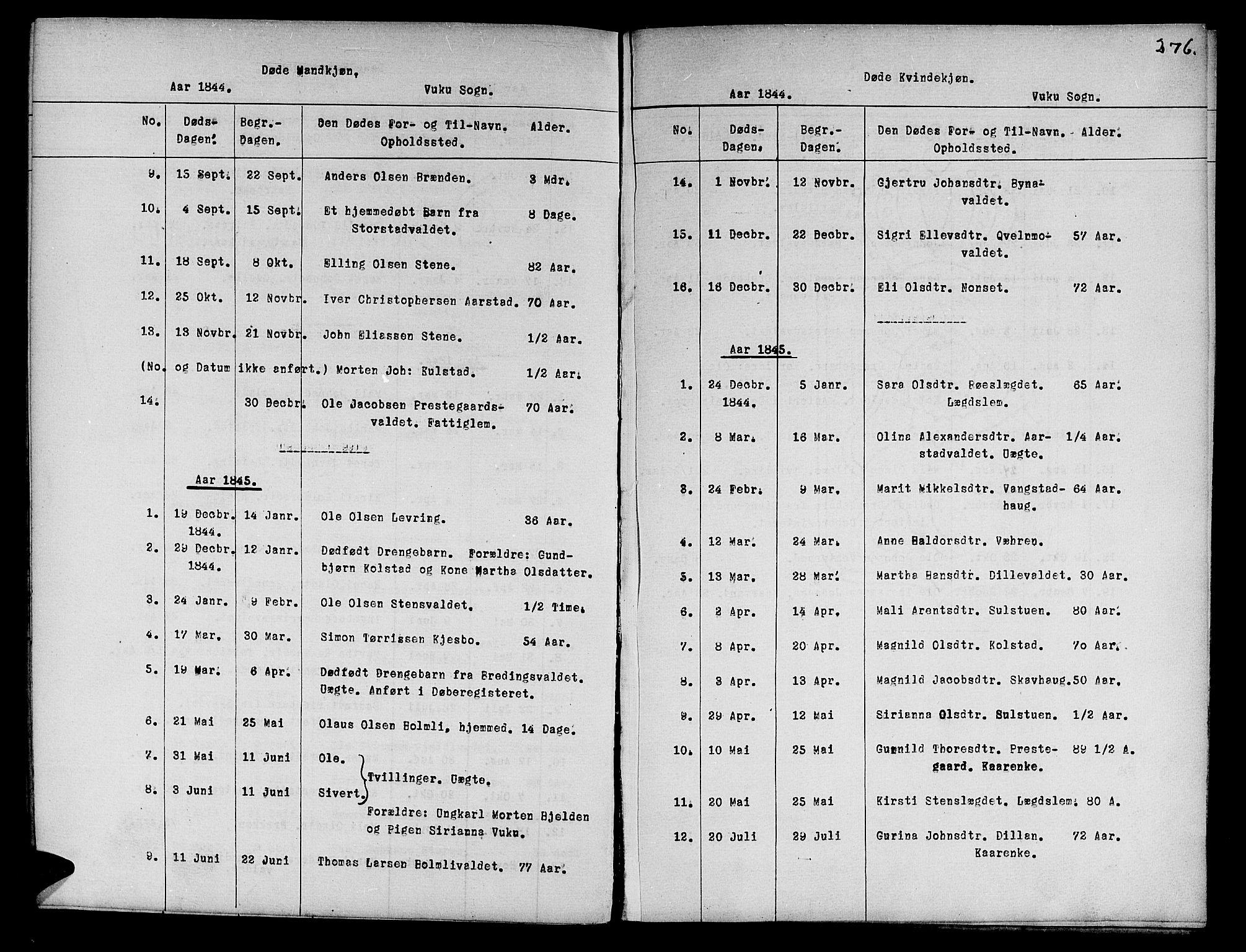 SAT, Ministerialprotokoller, klokkerbøker og fødselsregistre - Nord-Trøndelag, 724/L0265: Klokkerbok nr. 724C01, 1816-1845, s. 276